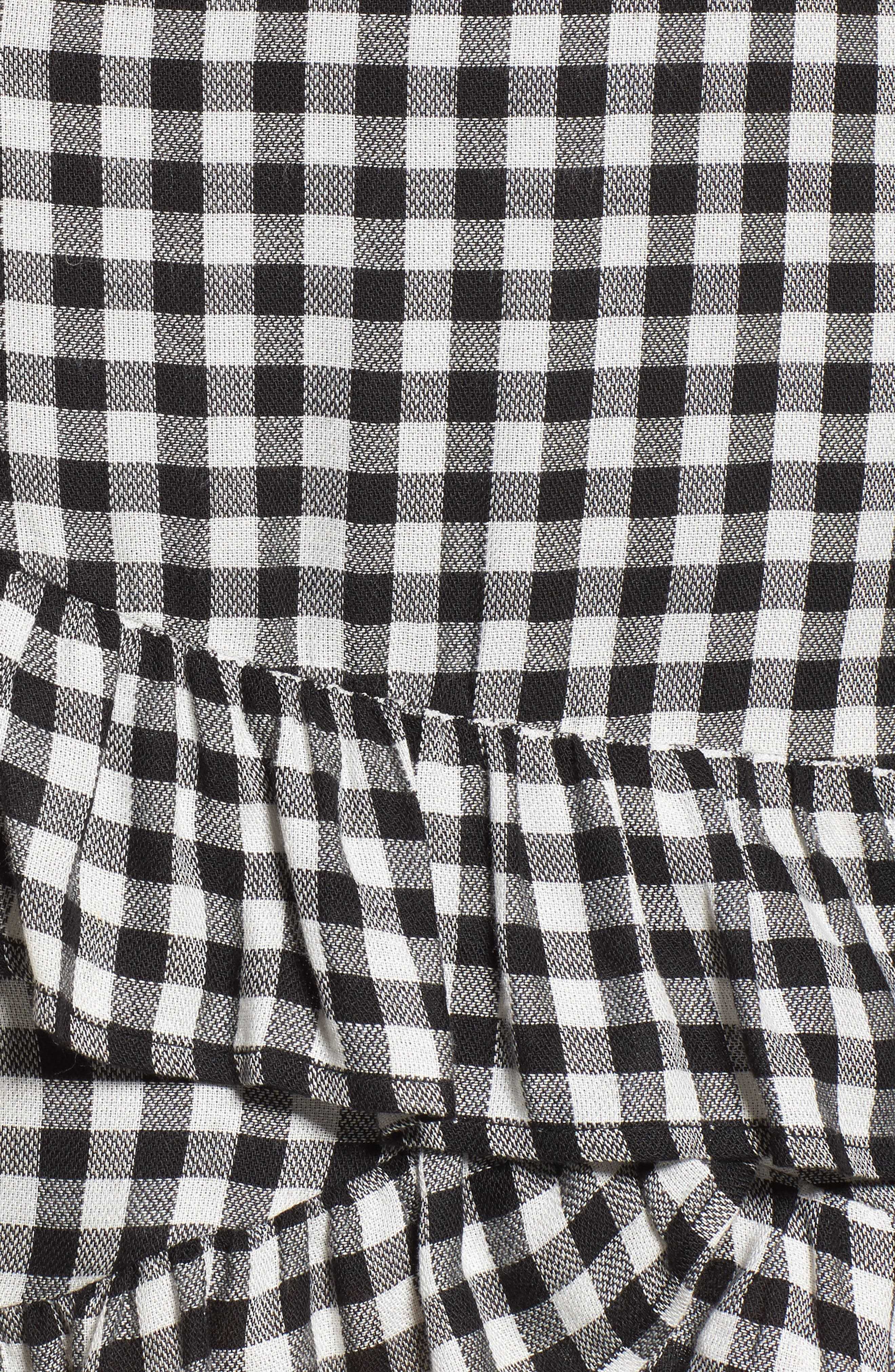 Day Trip Gingham Ruffle Skirt,                             Alternate thumbnail 5, color,                             003