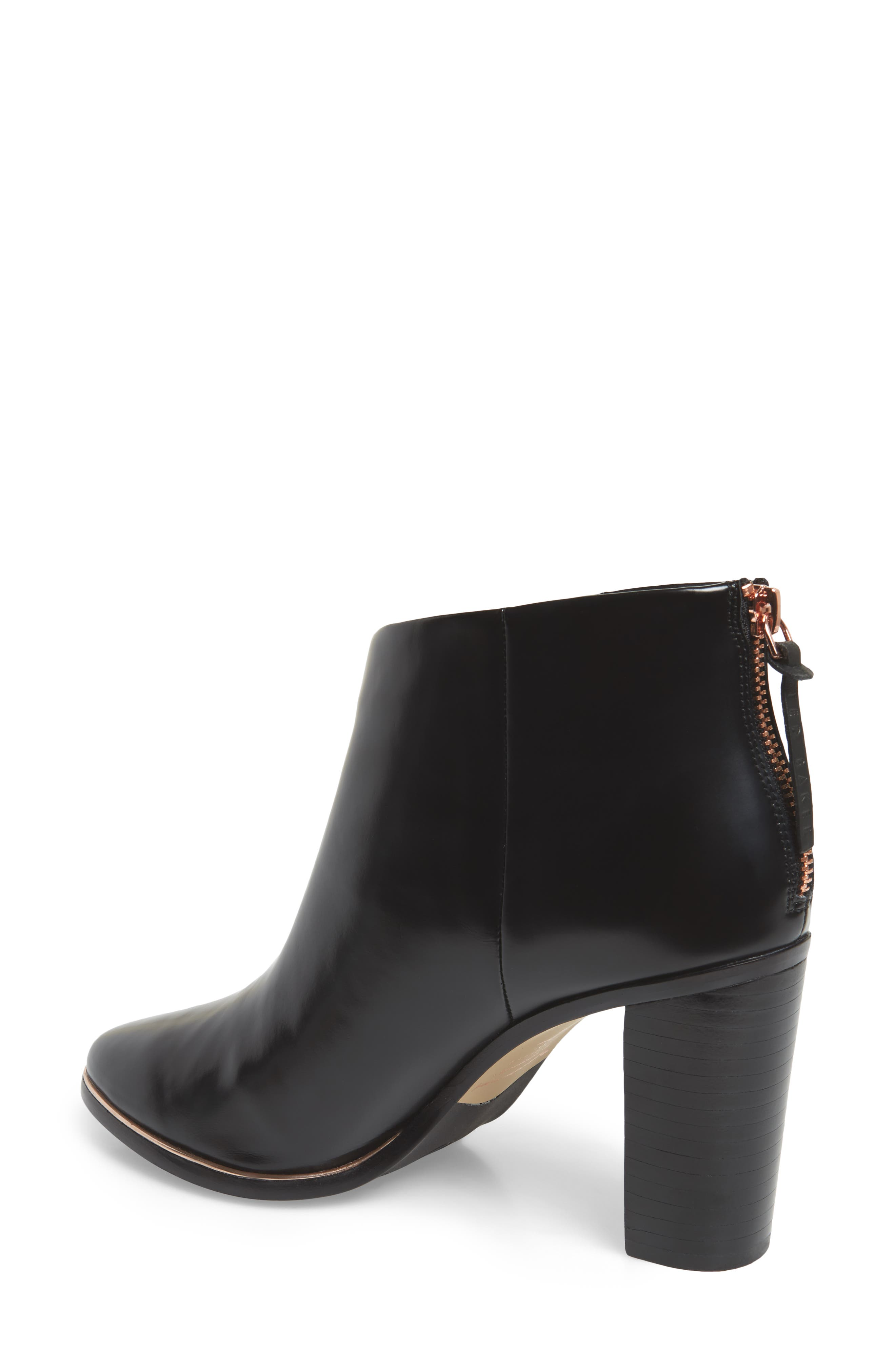 Vaully Bootie,                             Alternate thumbnail 2, color,                             BLACK LEATHER