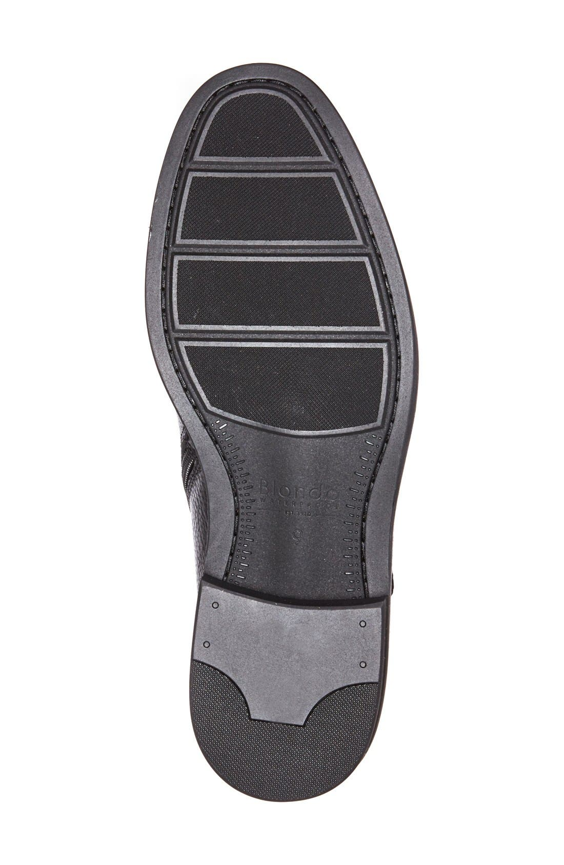 'Float' Waterproof Plain Toe Boot,                             Alternate thumbnail 4, color,                             001