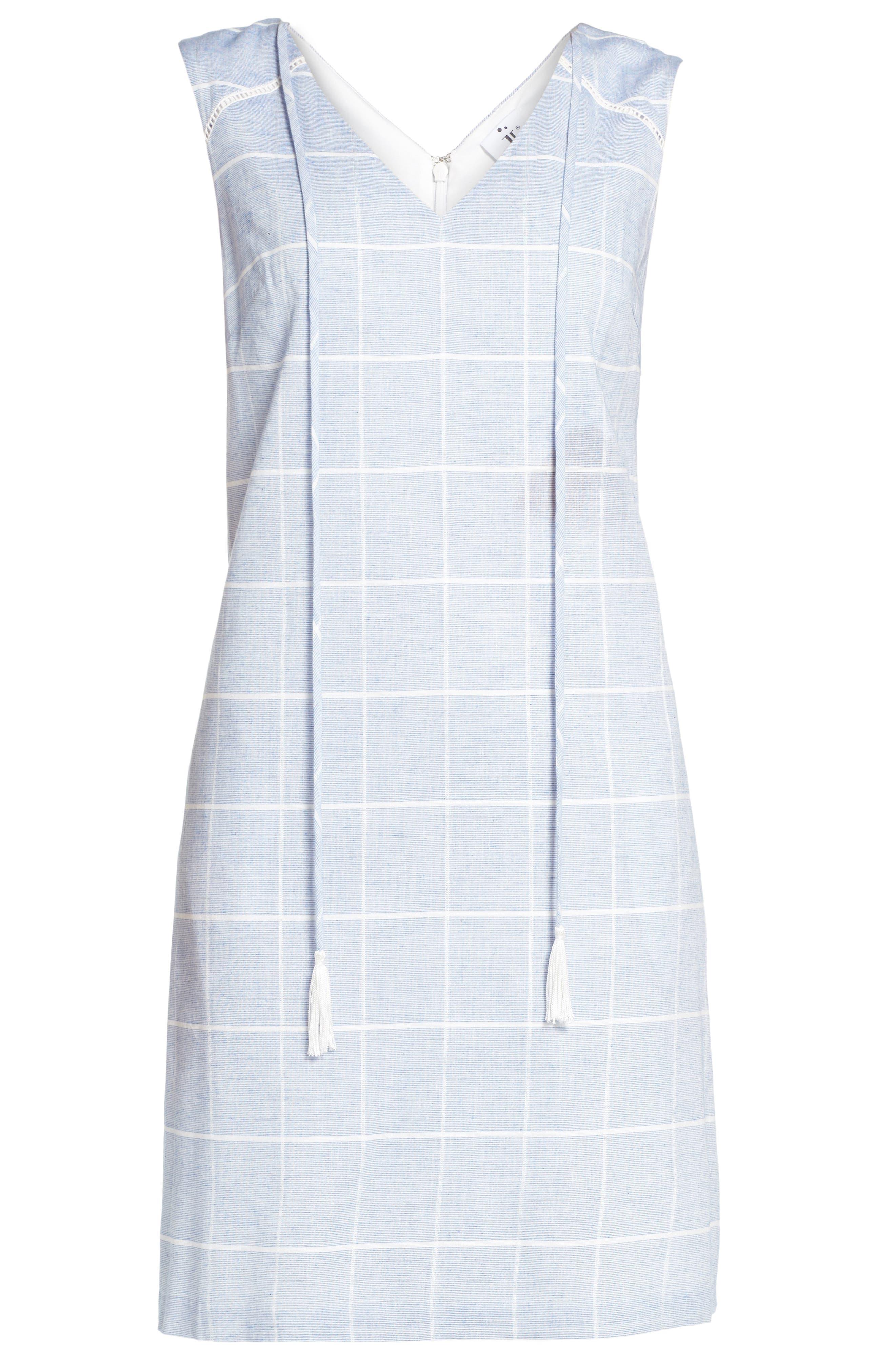 Cotton A-Line Dress,                             Alternate thumbnail 6, color,                             413