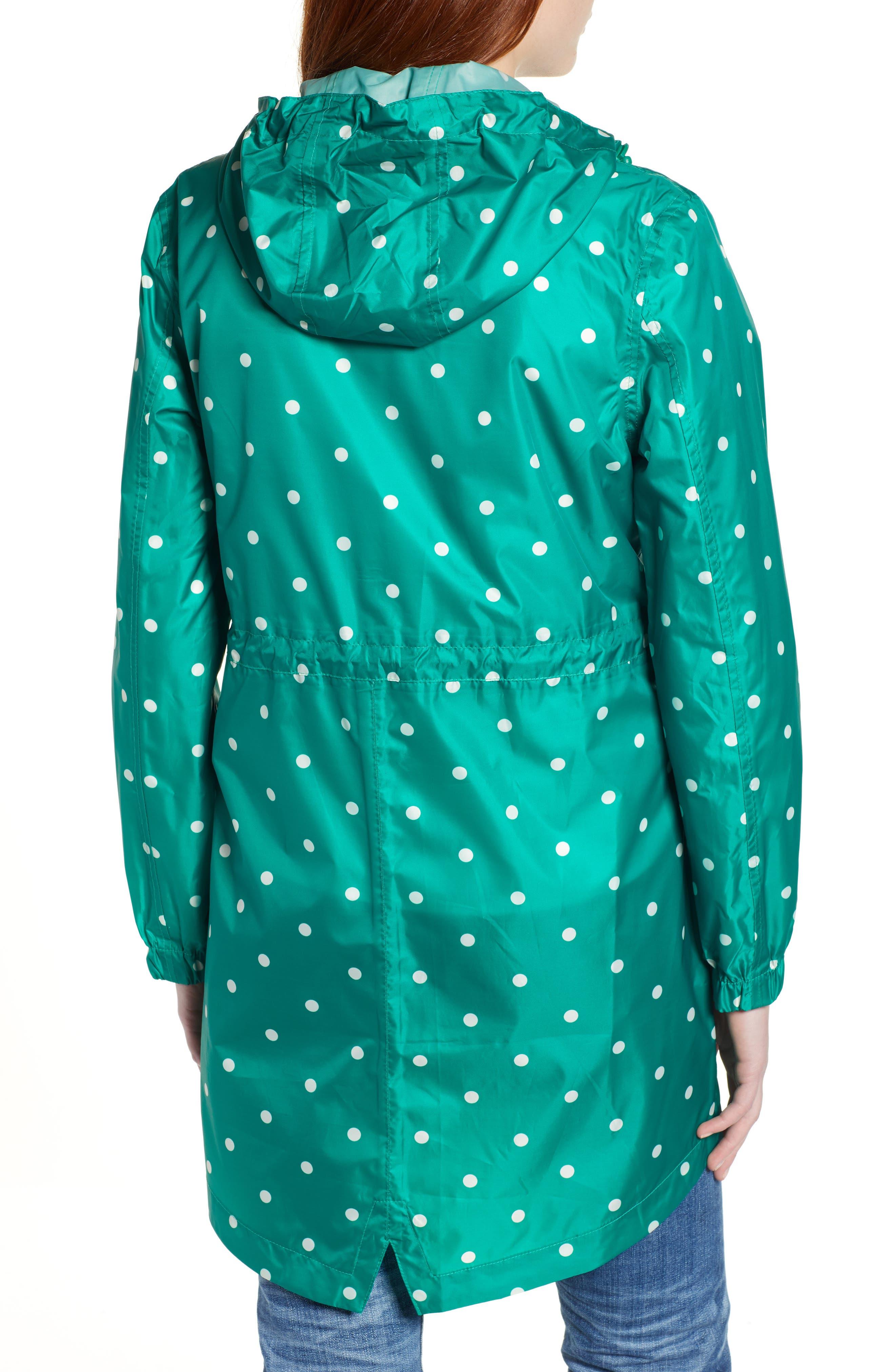 Go Lightly Waterproof Pack Away Hooded Jacket,                             Alternate thumbnail 2, color,                             GREEN SPOT