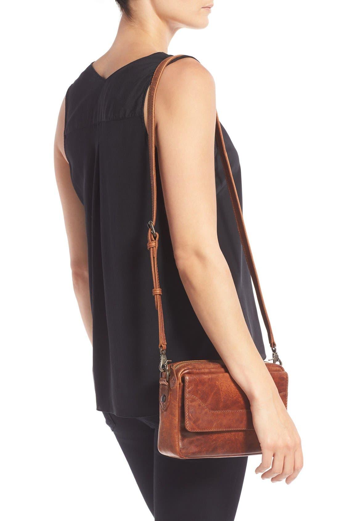 'Melissa' Leather Camera Crossbody Bag,                             Alternate thumbnail 2, color,                             200