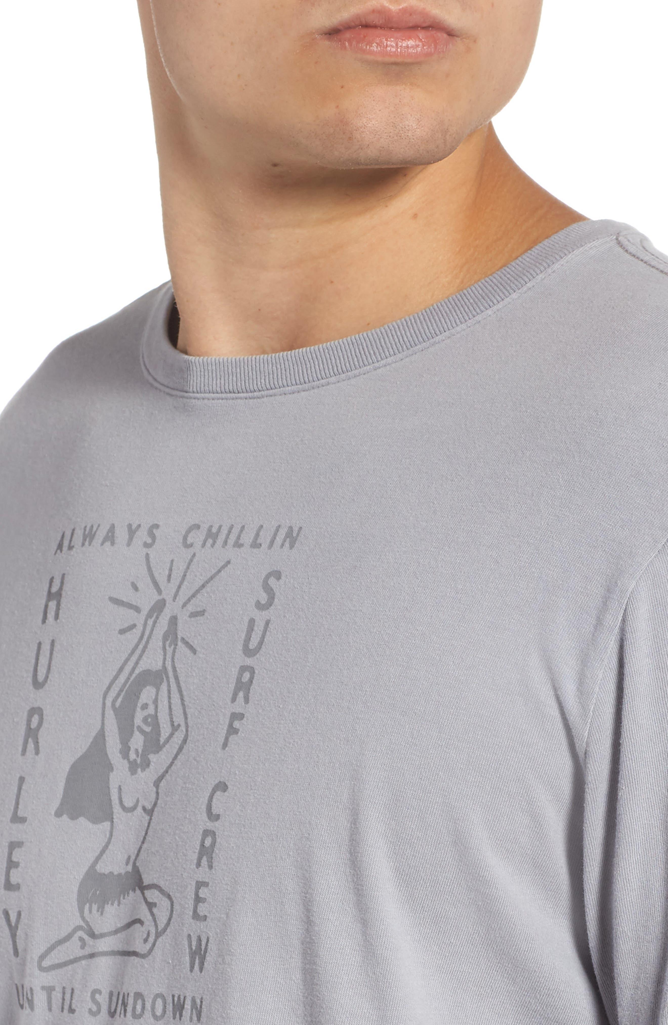 Sundown Summer Graphic T-Shirt,                             Alternate thumbnail 4, color,                             020