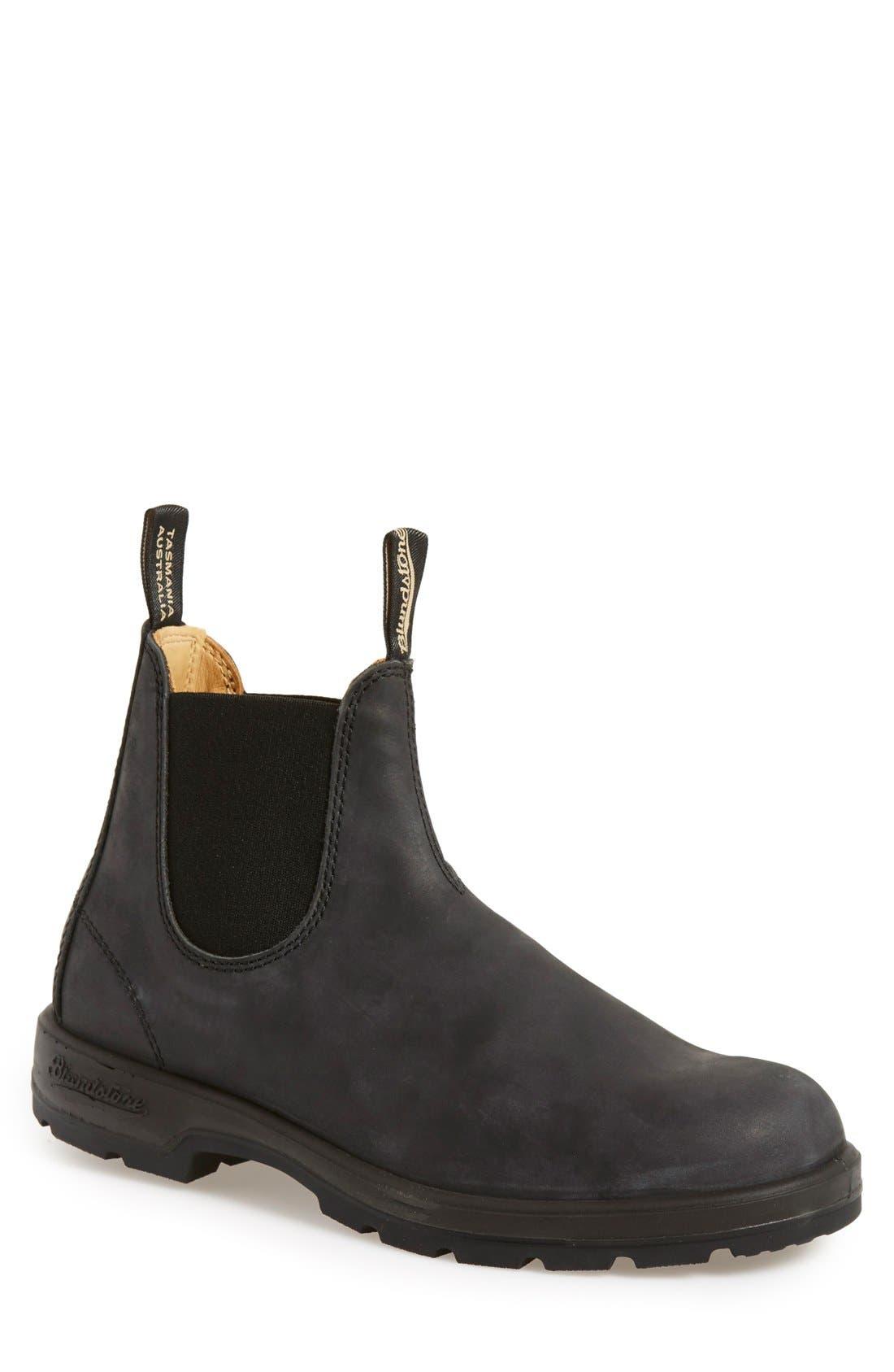 Footwear Chelsea Boot,                             Main thumbnail 1, color,                             RUSTIC BLACK