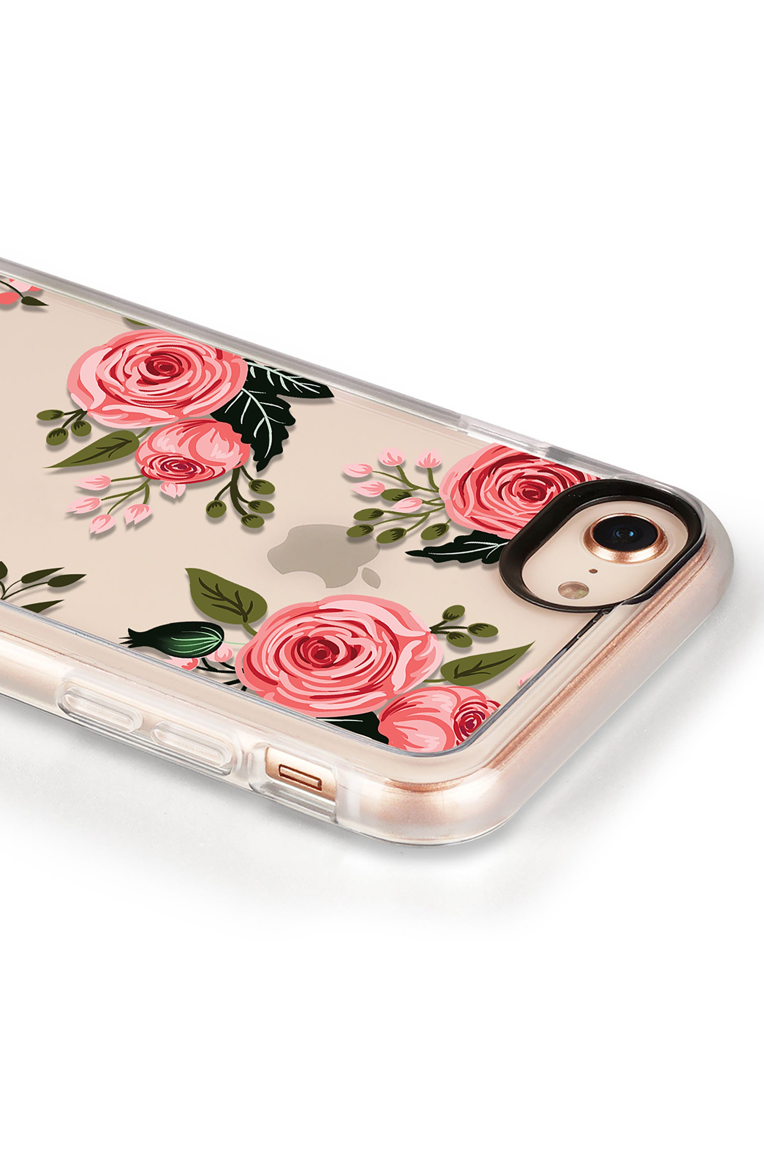 Pink Floral Grip iPhone 7/8 & 7/8 Plus Case,                             Alternate thumbnail 4, color,                             PINK