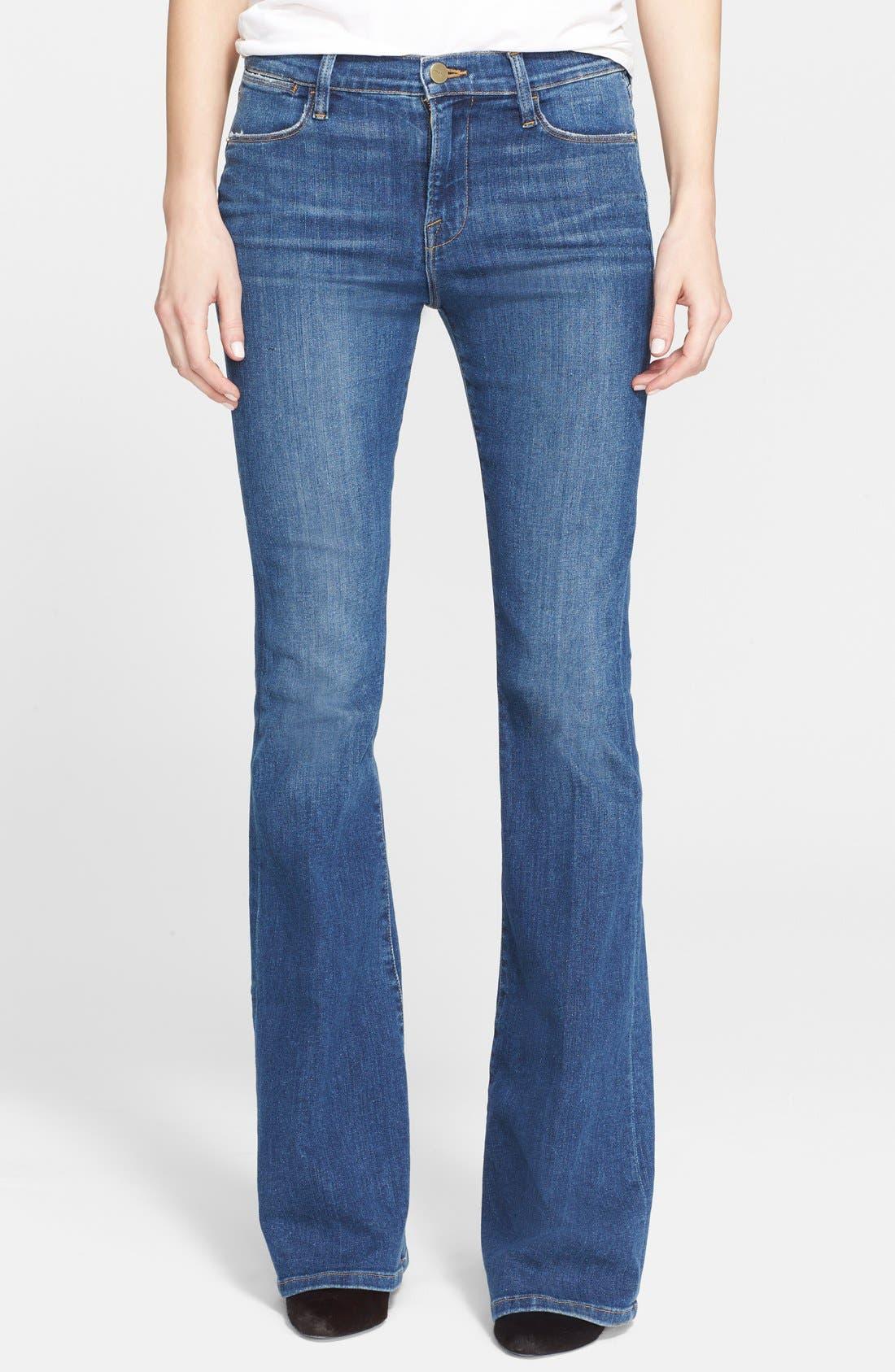 'Le High Flare' Jeans,                             Main thumbnail 4, color,