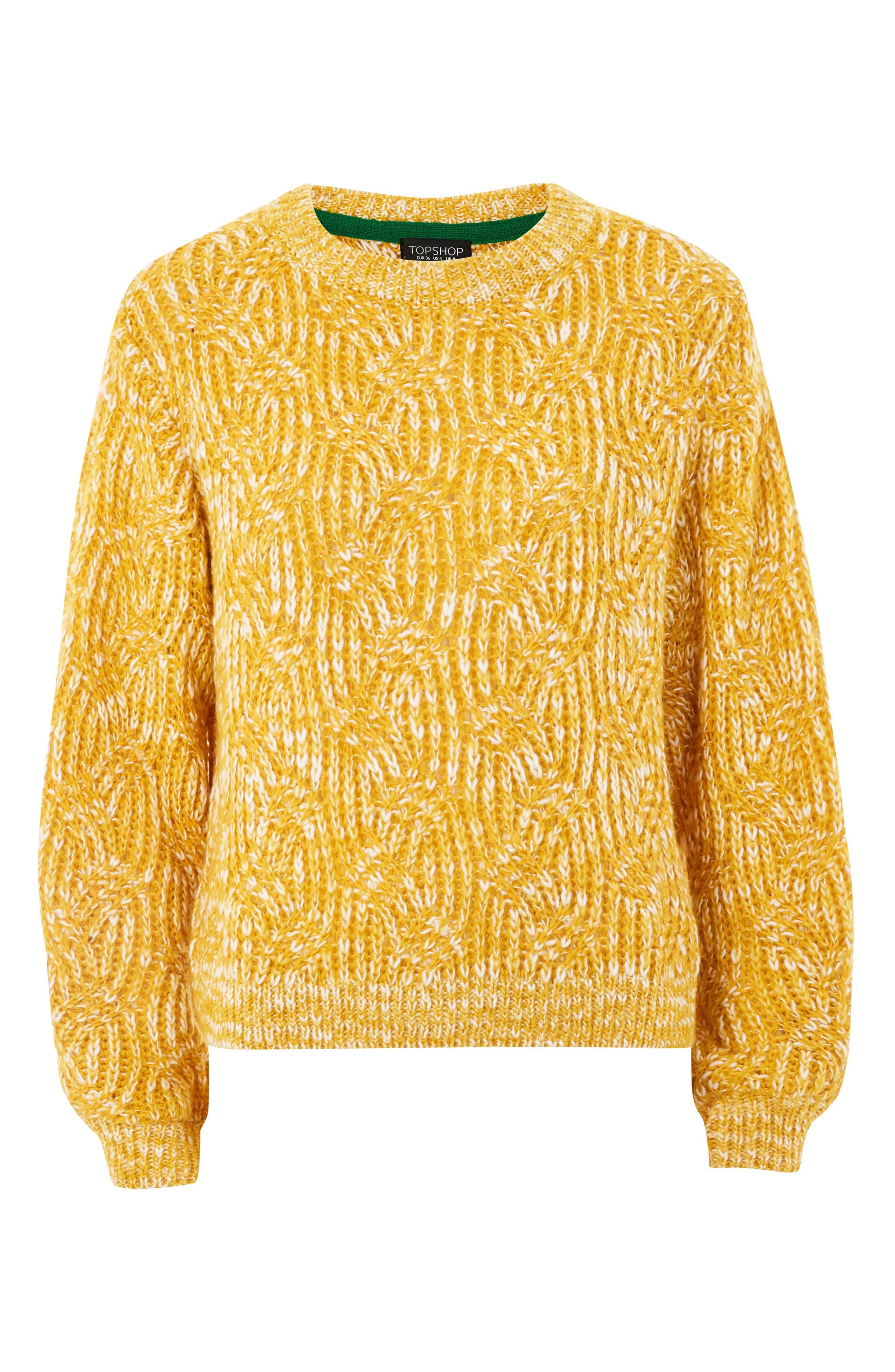 Swirl Tuck Sweater,                             Alternate thumbnail 8, color,