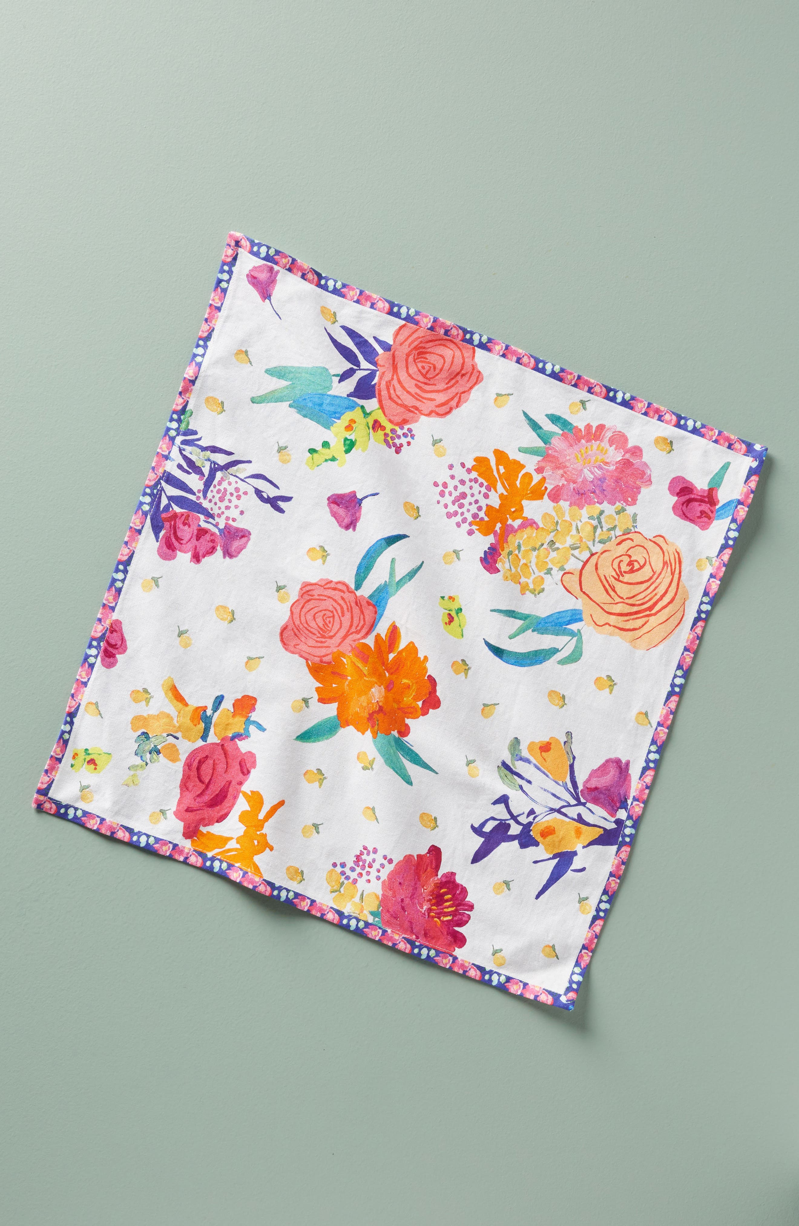 Paint + Petals Napkin,                         Main,                         color,