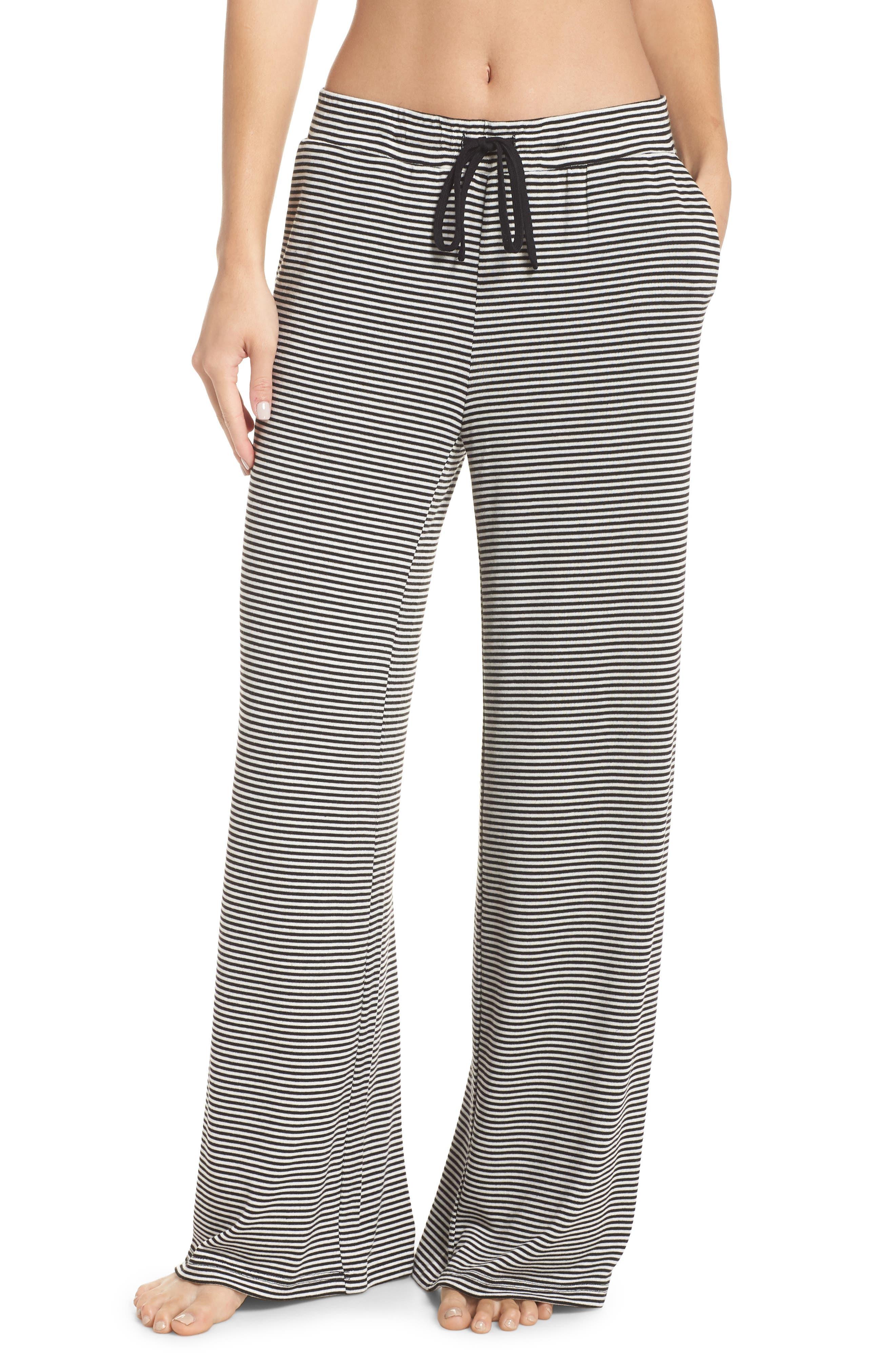Dreams Wide Leg Pajama Pants,                             Main thumbnail 1, color,                             BLACK