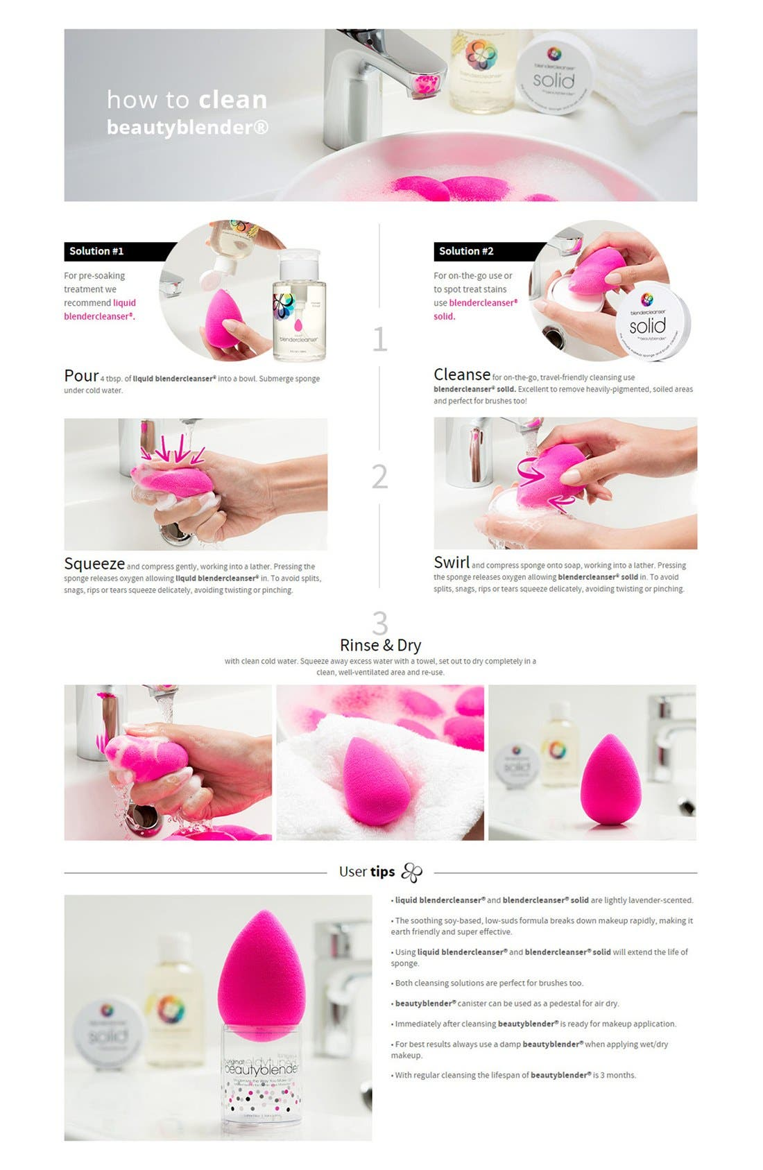 Makeup Sponge Applicator Duo & Cleanser,                             Alternate thumbnail 2, color,