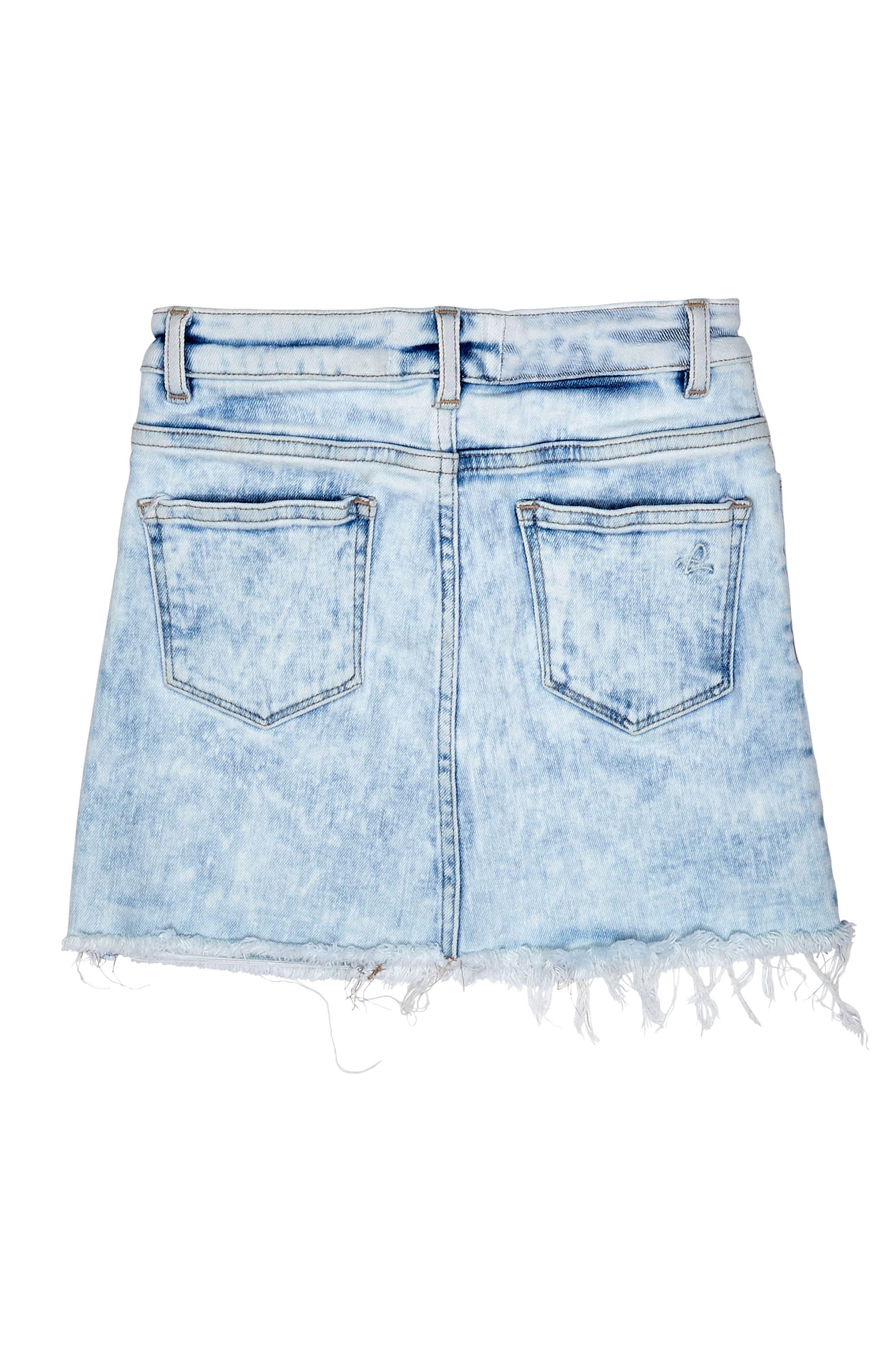 Cutoff Denim Skirt,                             Alternate thumbnail 2, color,                             430