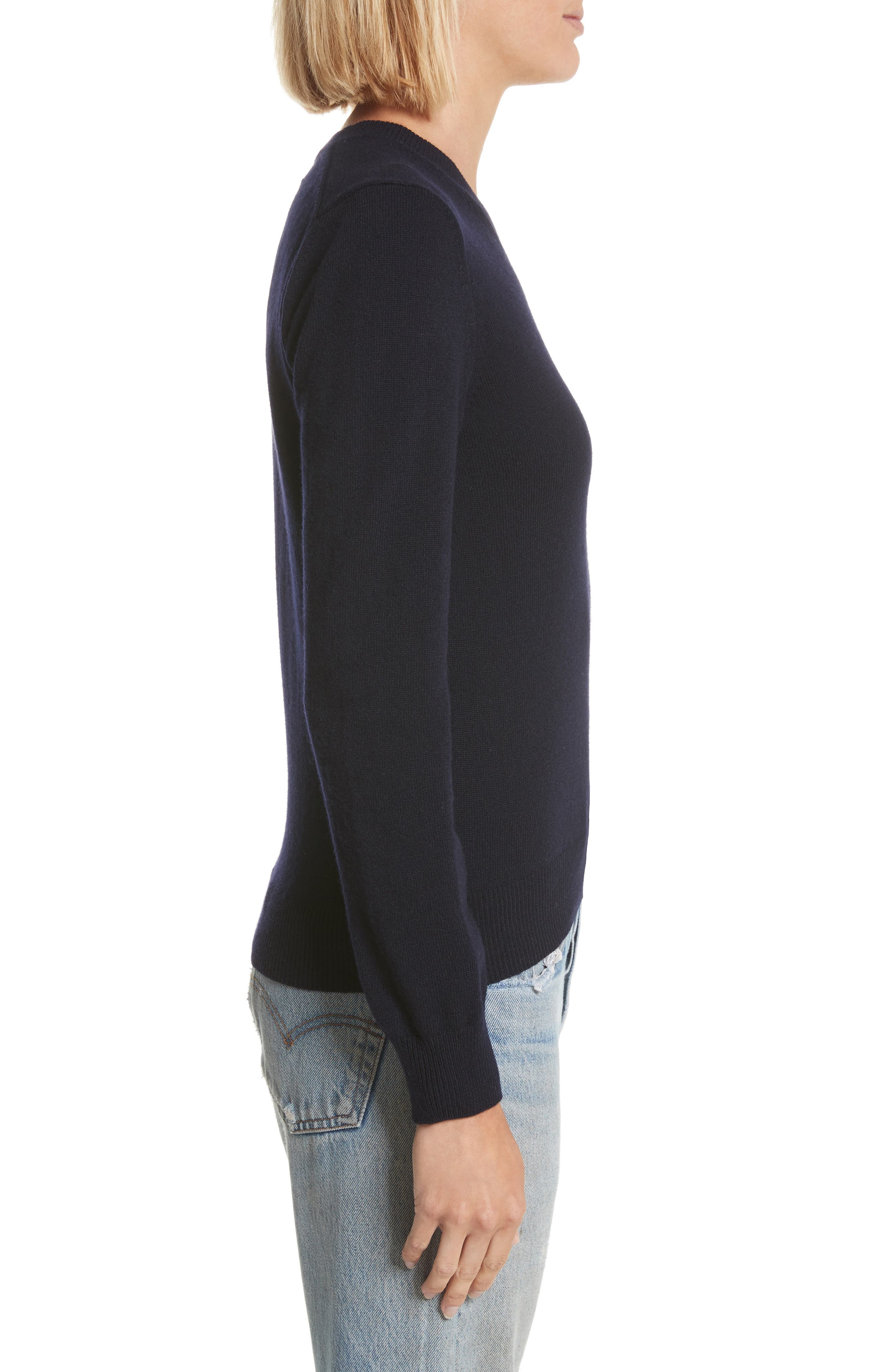 PLAY Double Heart Wool Sweater,                             Alternate thumbnail 3, color,