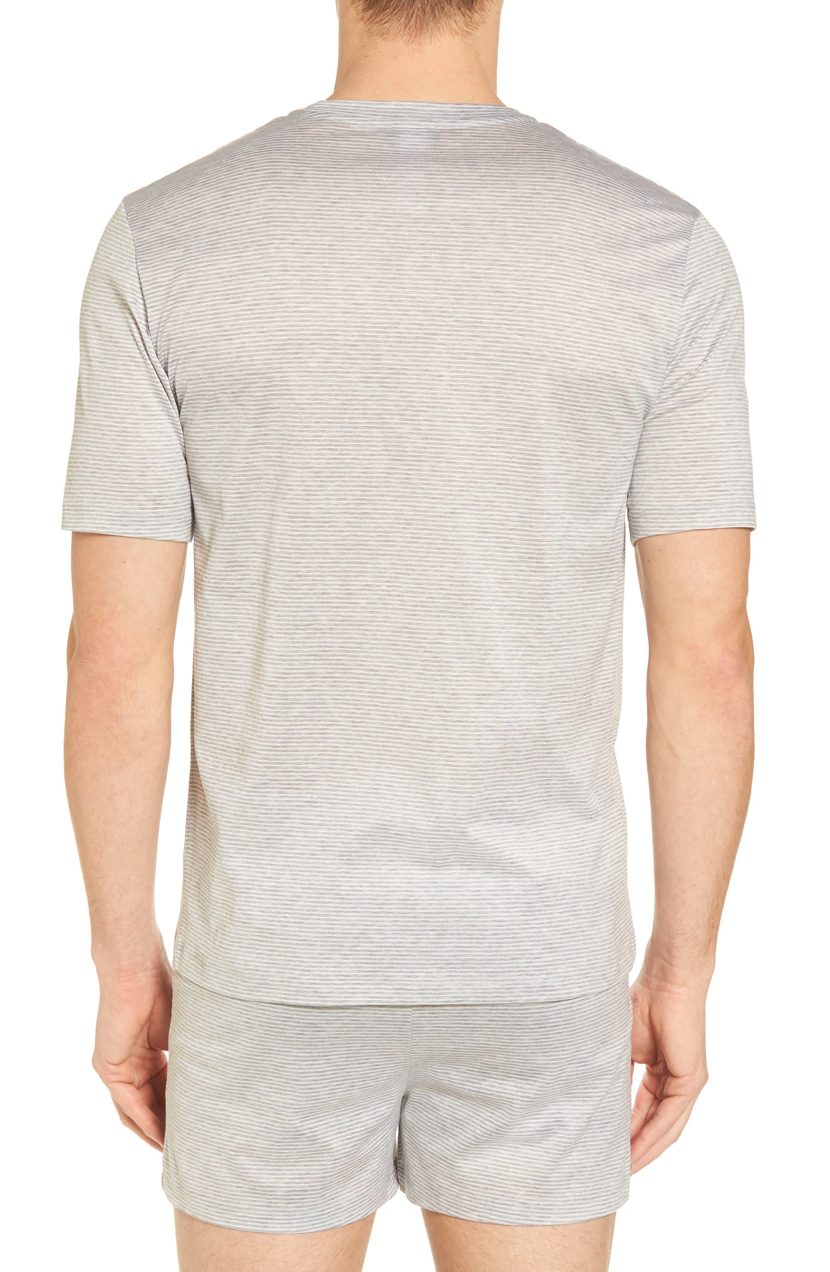 Sporty Stripe Cotton V-Neck T-Shirt,                             Alternate thumbnail 2, color,                             MELANGE STRIPE