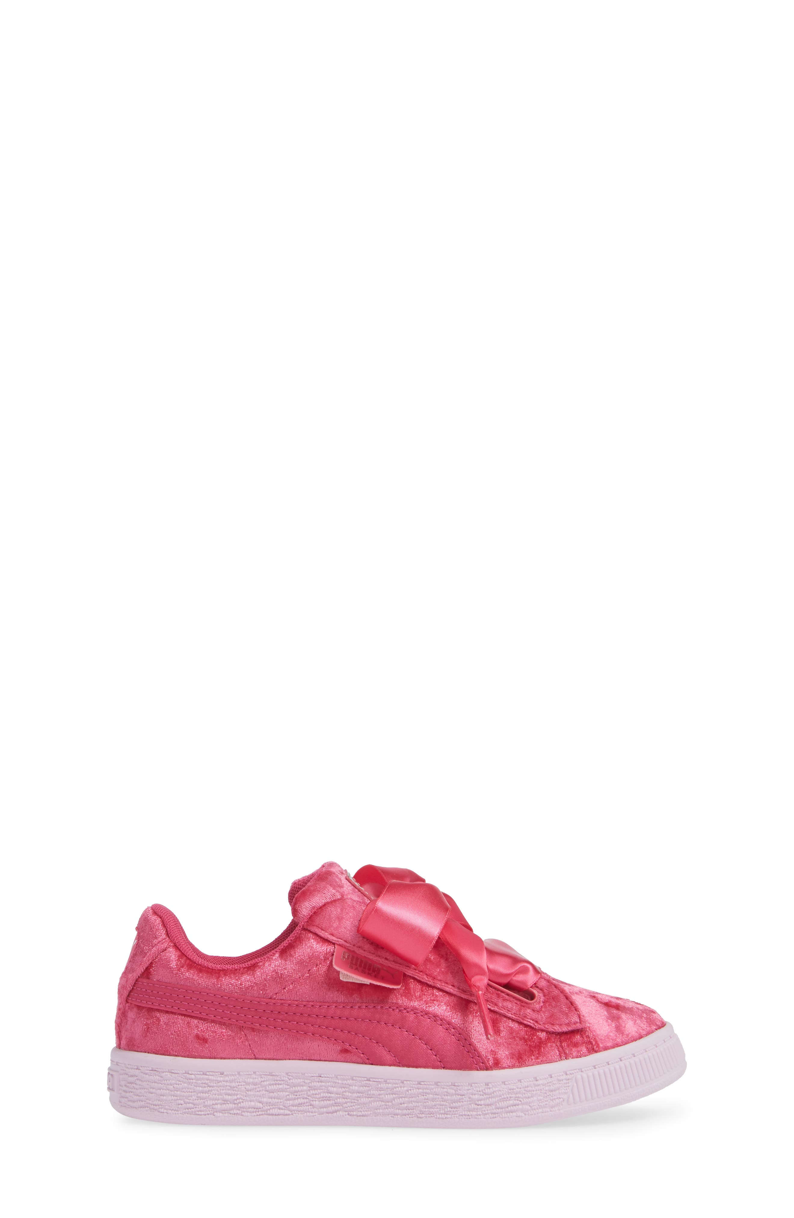 Basket Heart Sneaker,                             Alternate thumbnail 3, color,                             BEETROOT PURPLE-PUMA SILVER