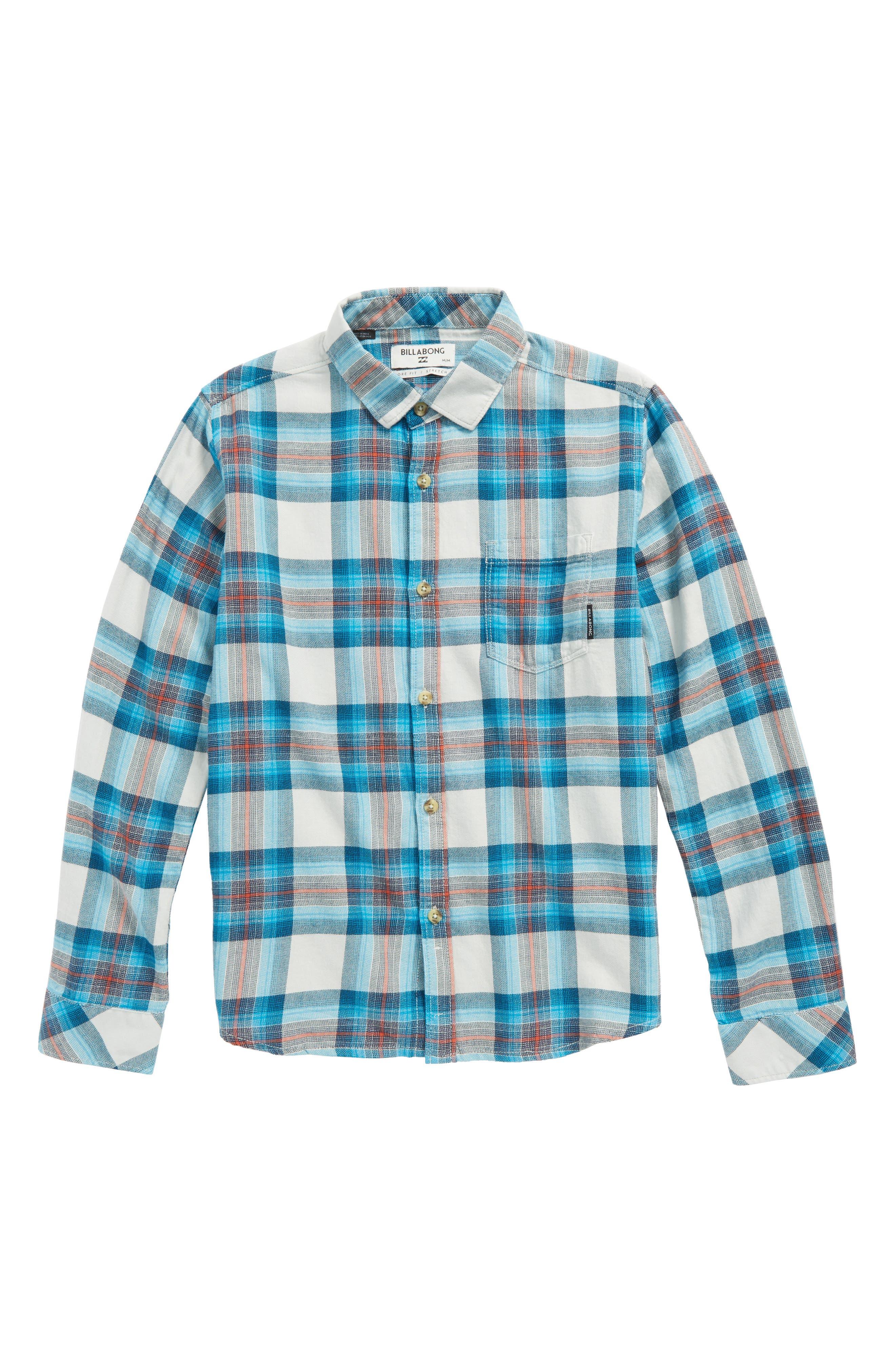 Freemont Plaid Flannel Shirt,                             Main thumbnail 1, color,                             020