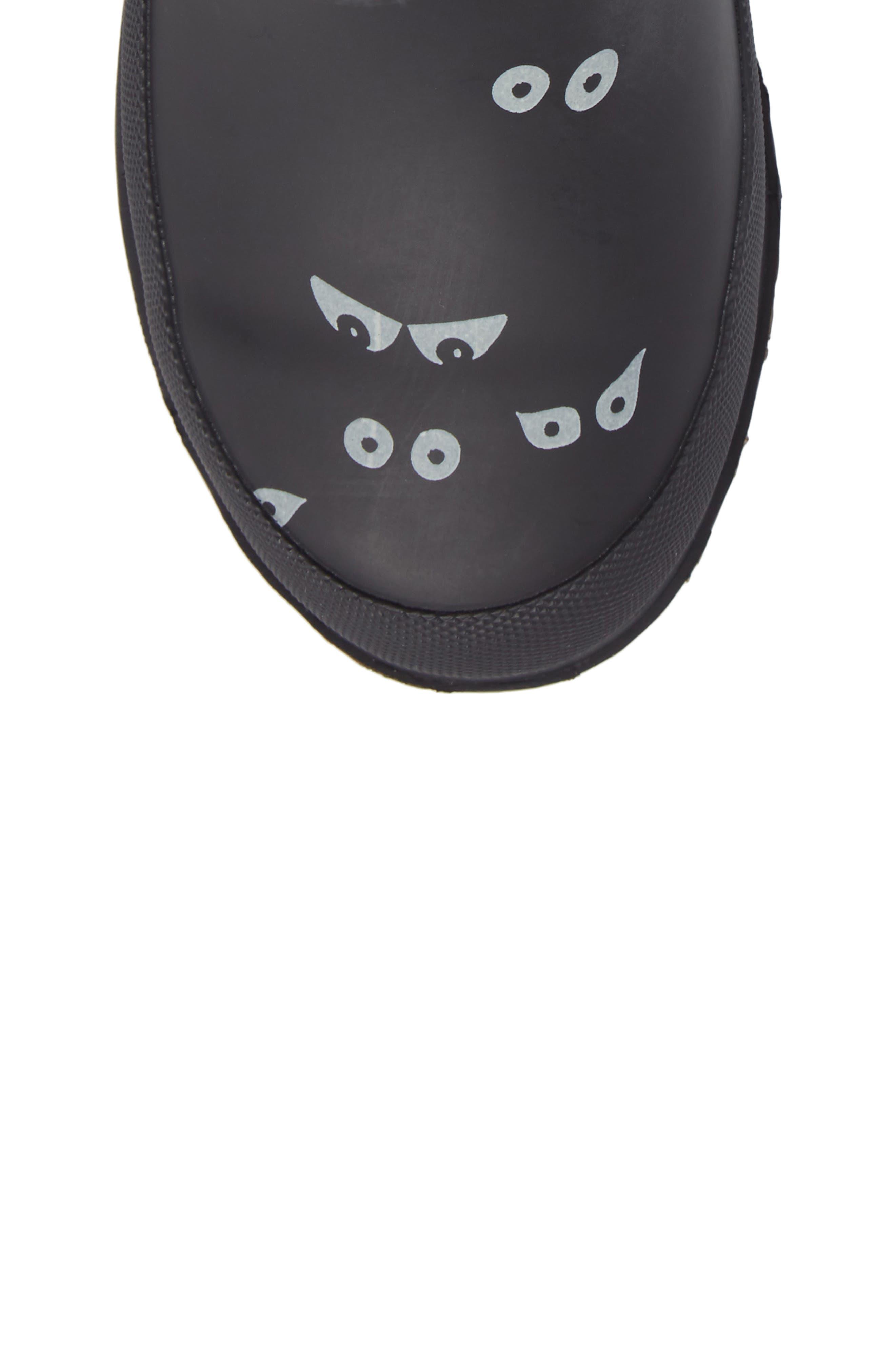 Printed Waterproof Rain Boot,                             Alternate thumbnail 5, color,                             001