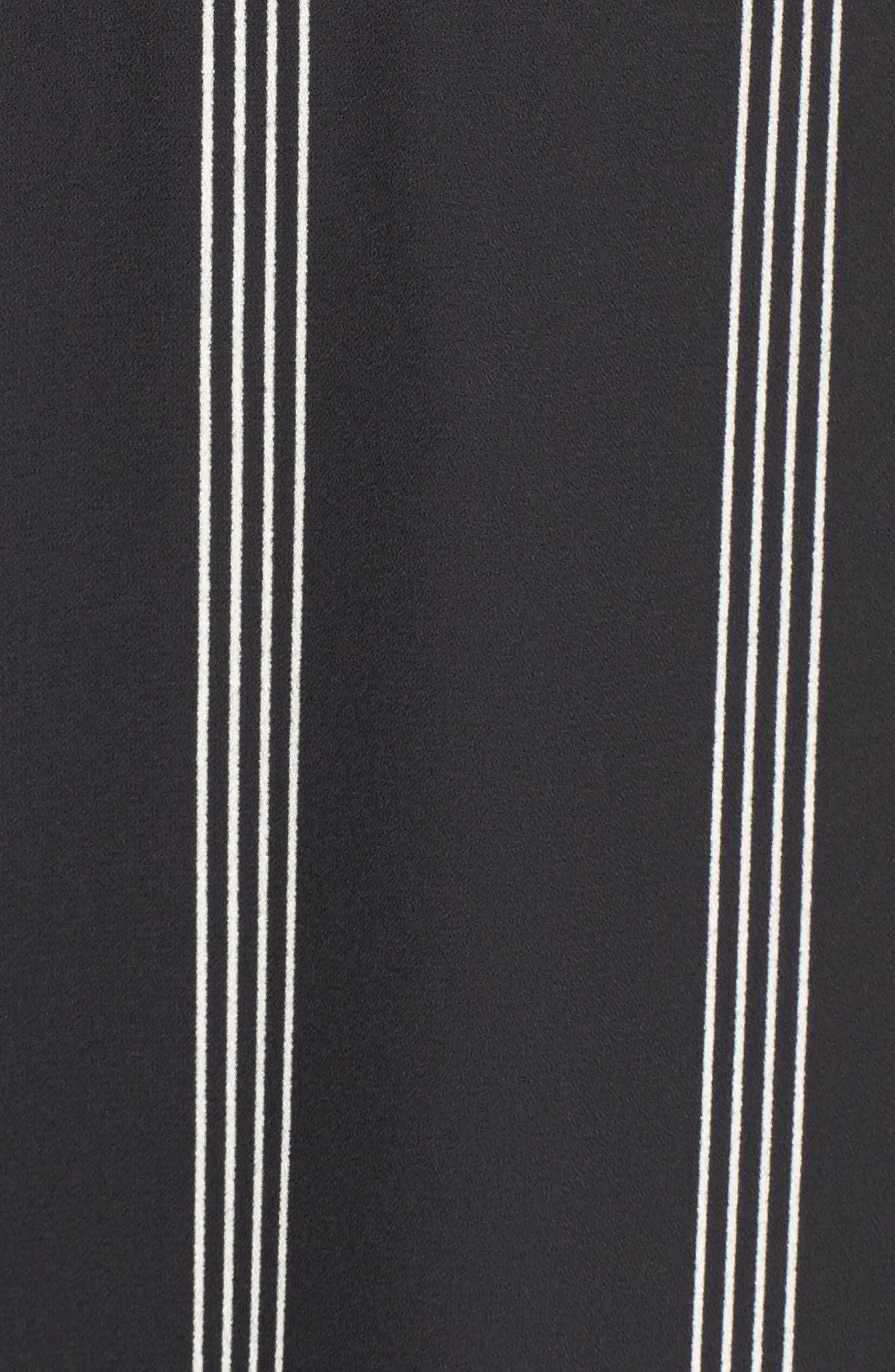 Stripe Fit & Flare Dress,                             Alternate thumbnail 5, color,                             002