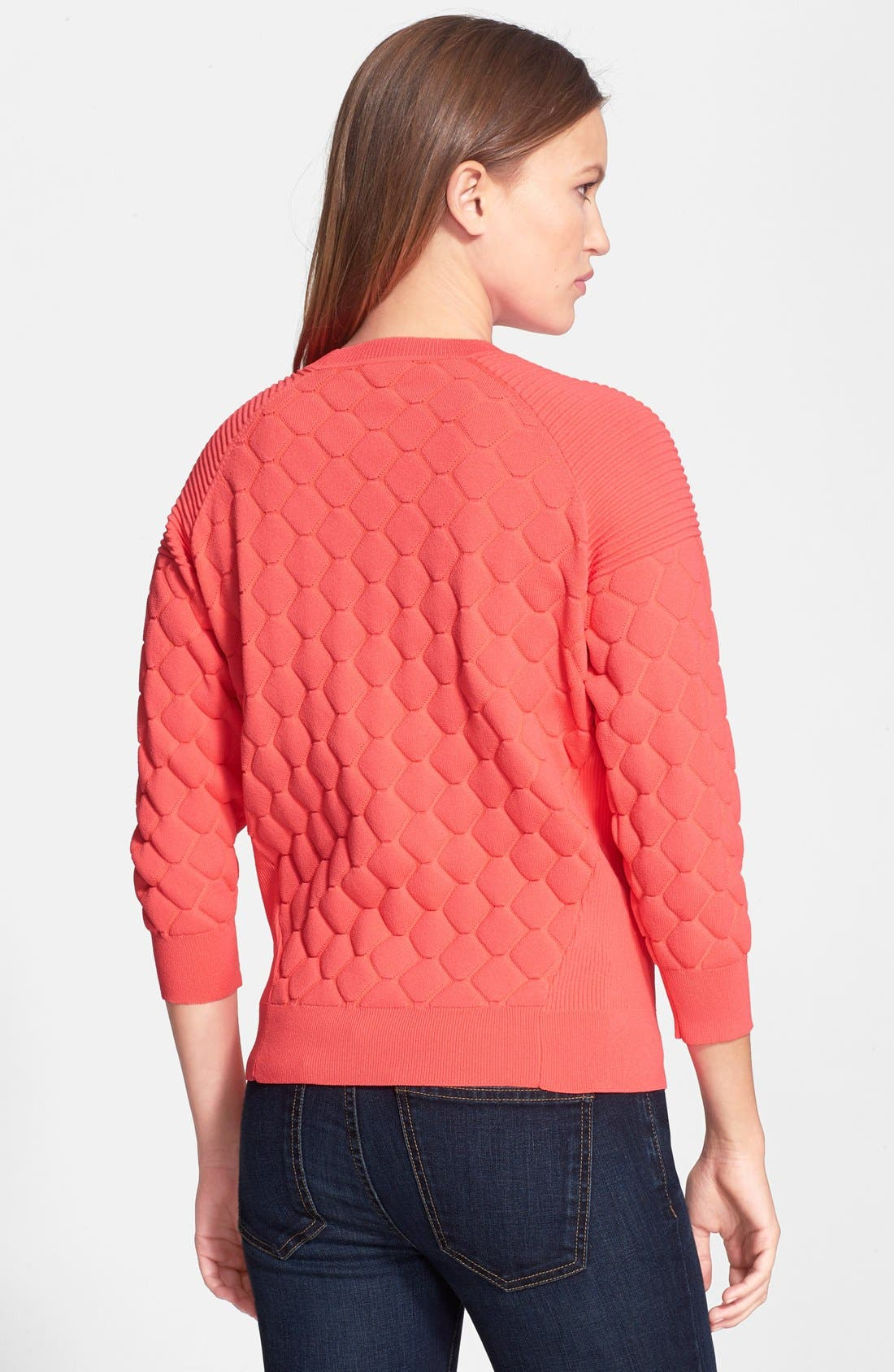 'Maida' Quilted Sweater,                             Alternate thumbnail 3, color,                             810
