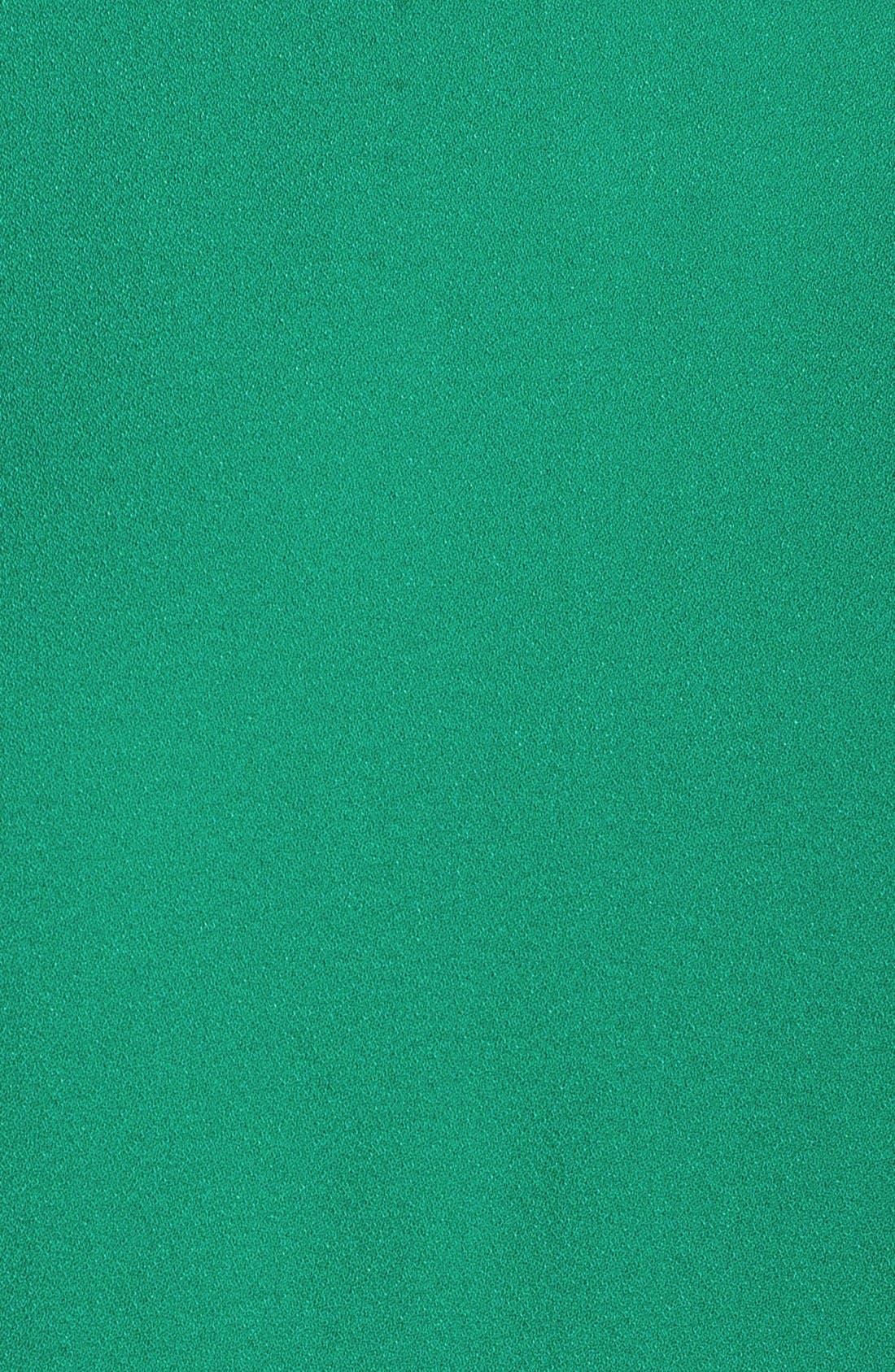 Devery Crepe Shift Dress,                             Alternate thumbnail 9, color,                             EMERALD GREEN