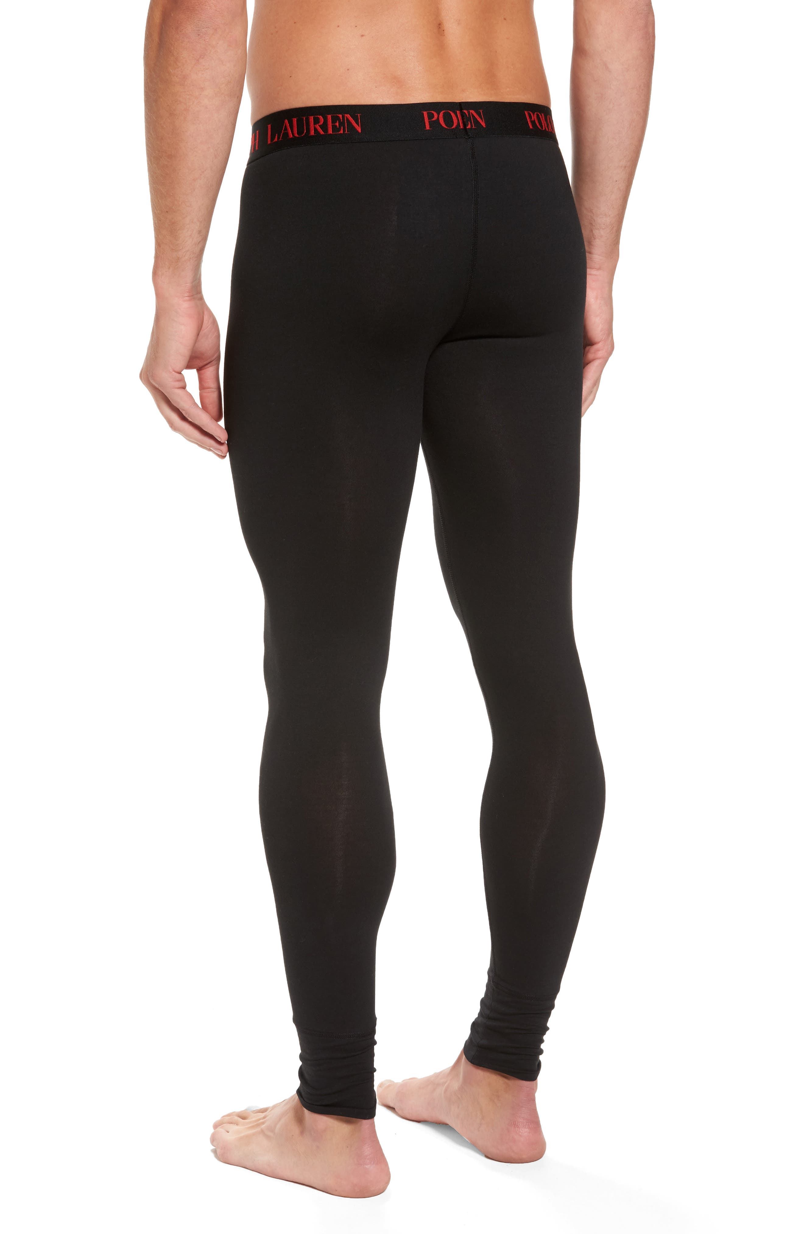 Long Underwear,                             Alternate thumbnail 2, color,                             POLO BLACK
