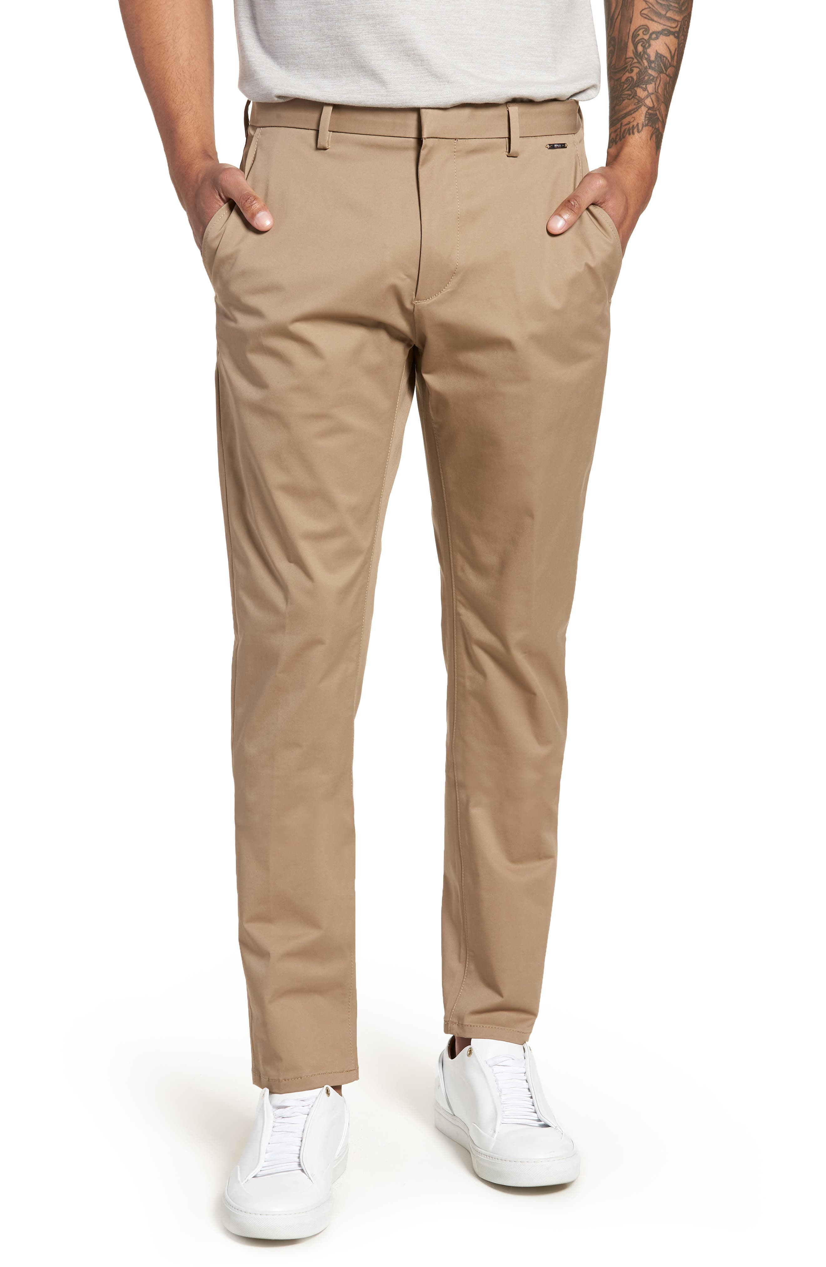 Helgo Flat Front Stretch Pants,                         Main,                         color, 265