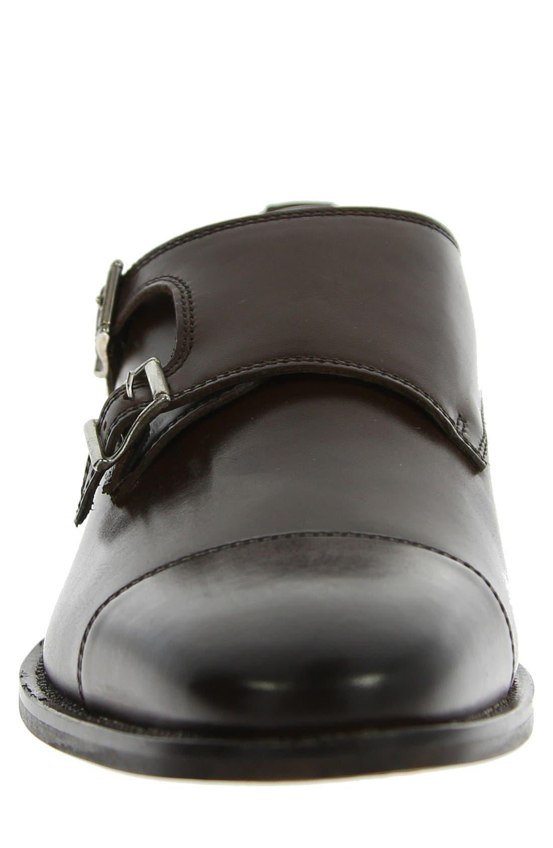 'Sabato' Double Monk Strap Shoe,                             Alternate thumbnail 2, color,                             BROWN