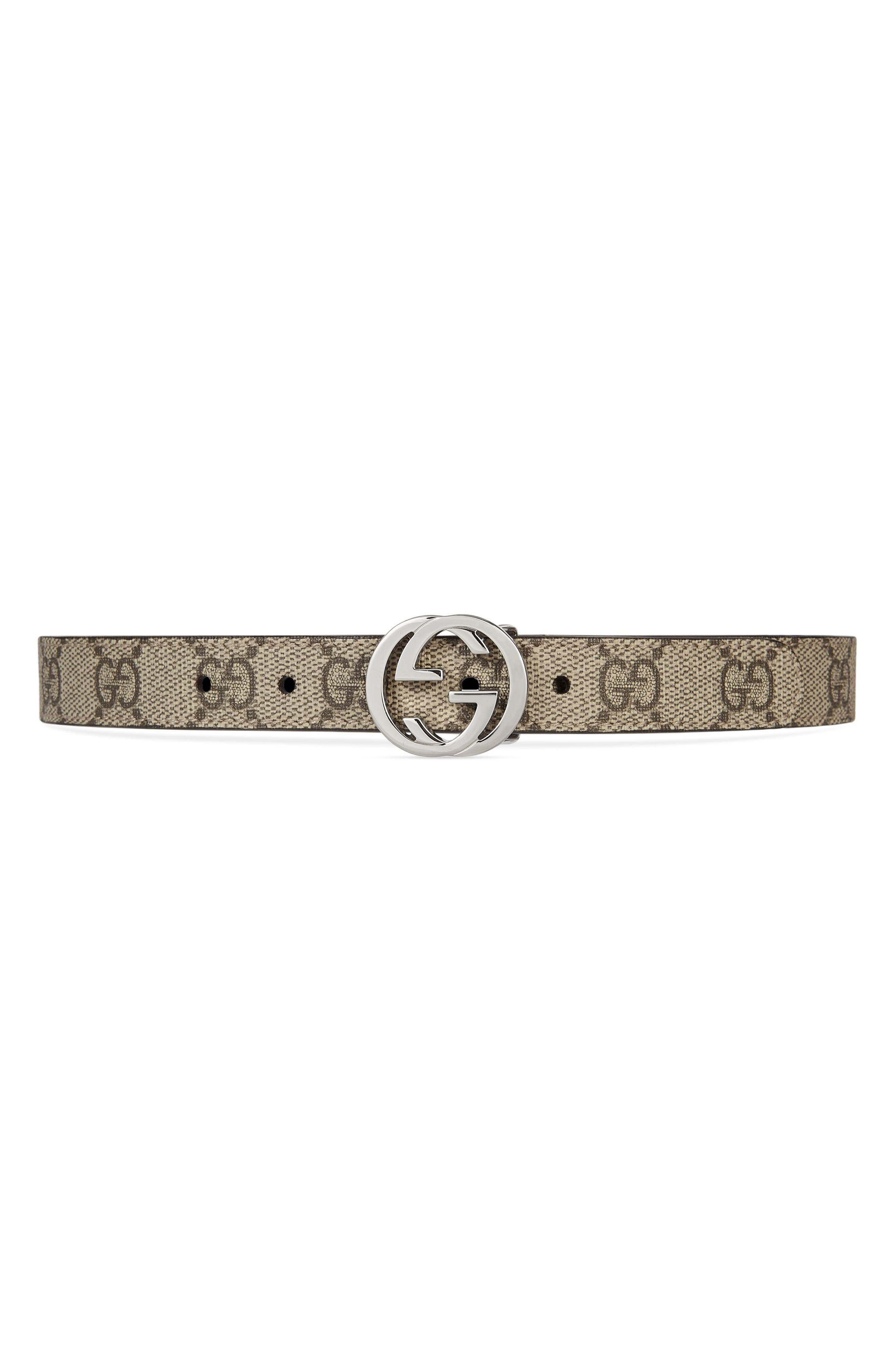 Canvas Belt,                         Main,                         color, BEIGE/ EBONY