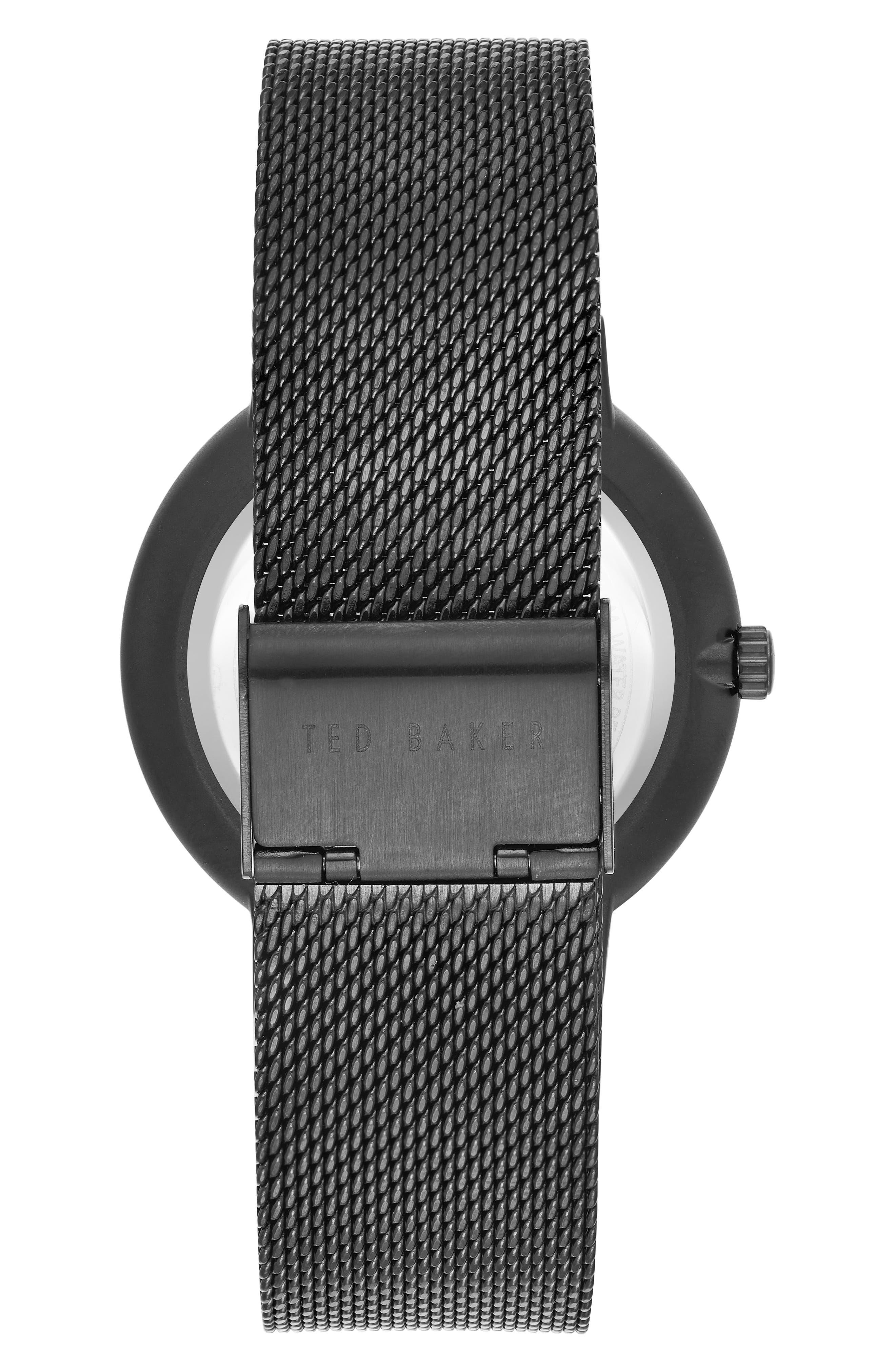 Norton Mesh Strap Watch, 42mm,                             Alternate thumbnail 2, color,                             003