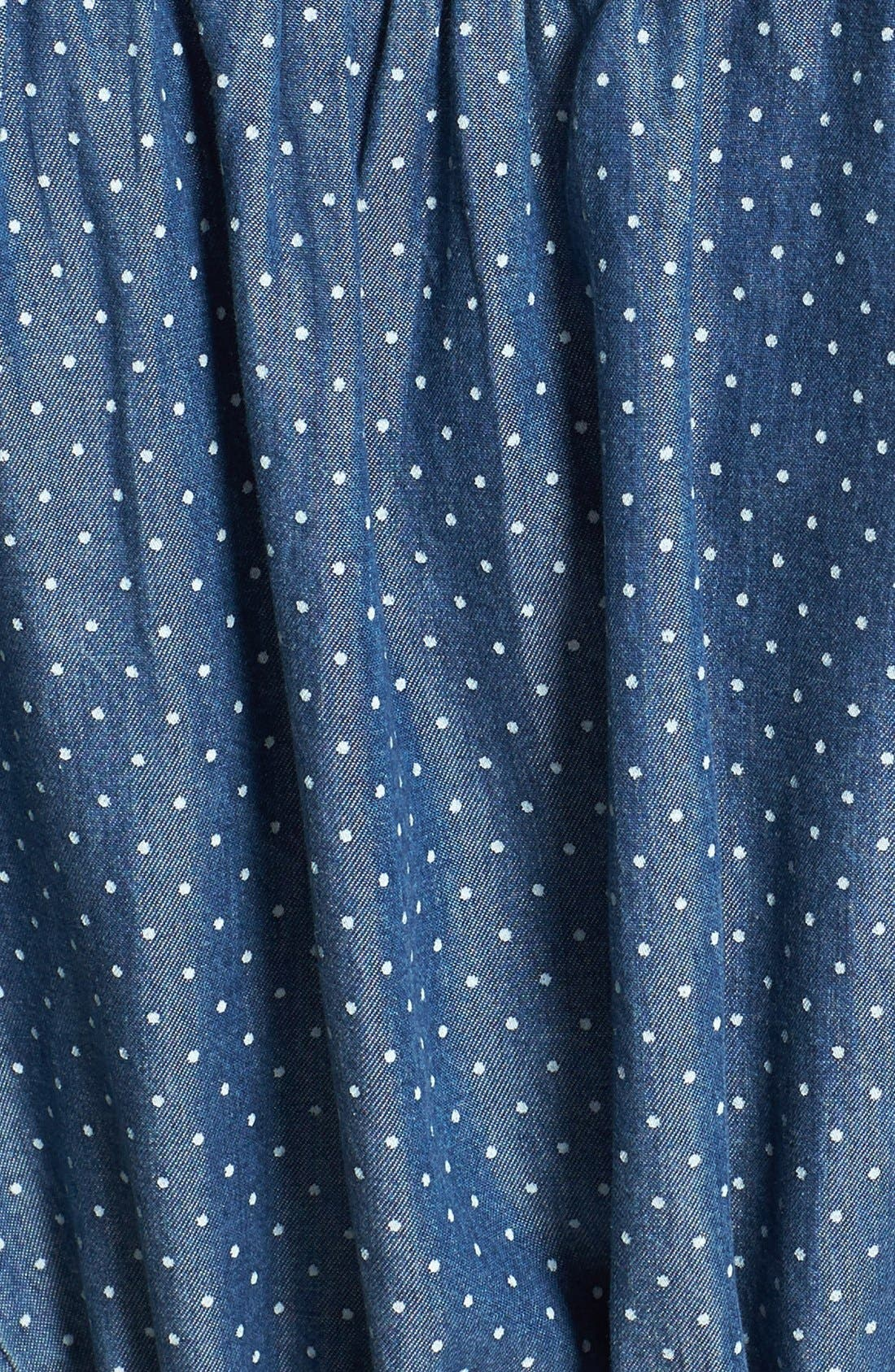 'Erin' Pin Dot Shirtdress,                             Alternate thumbnail 2, color,                             420
