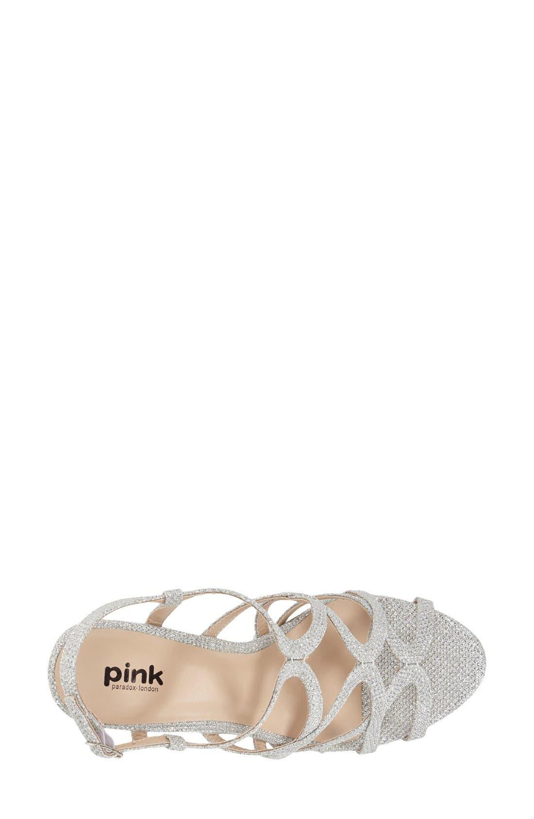 'Rich Glitter' Sandal,                             Alternate thumbnail 3, color,                             SILVER GLITTER MESH