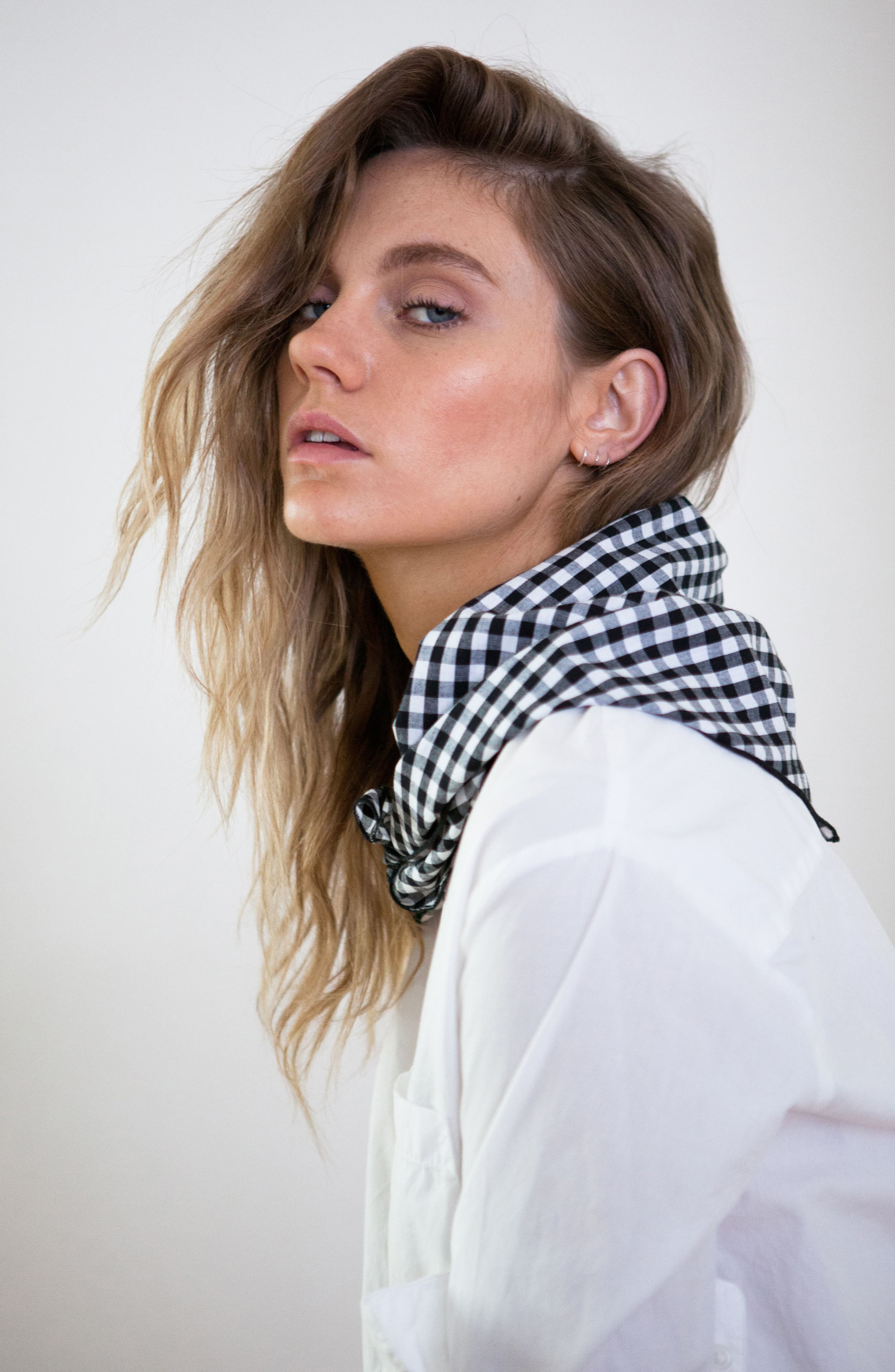 Gingham Scarf,                             Alternate thumbnail 2, color,                             001