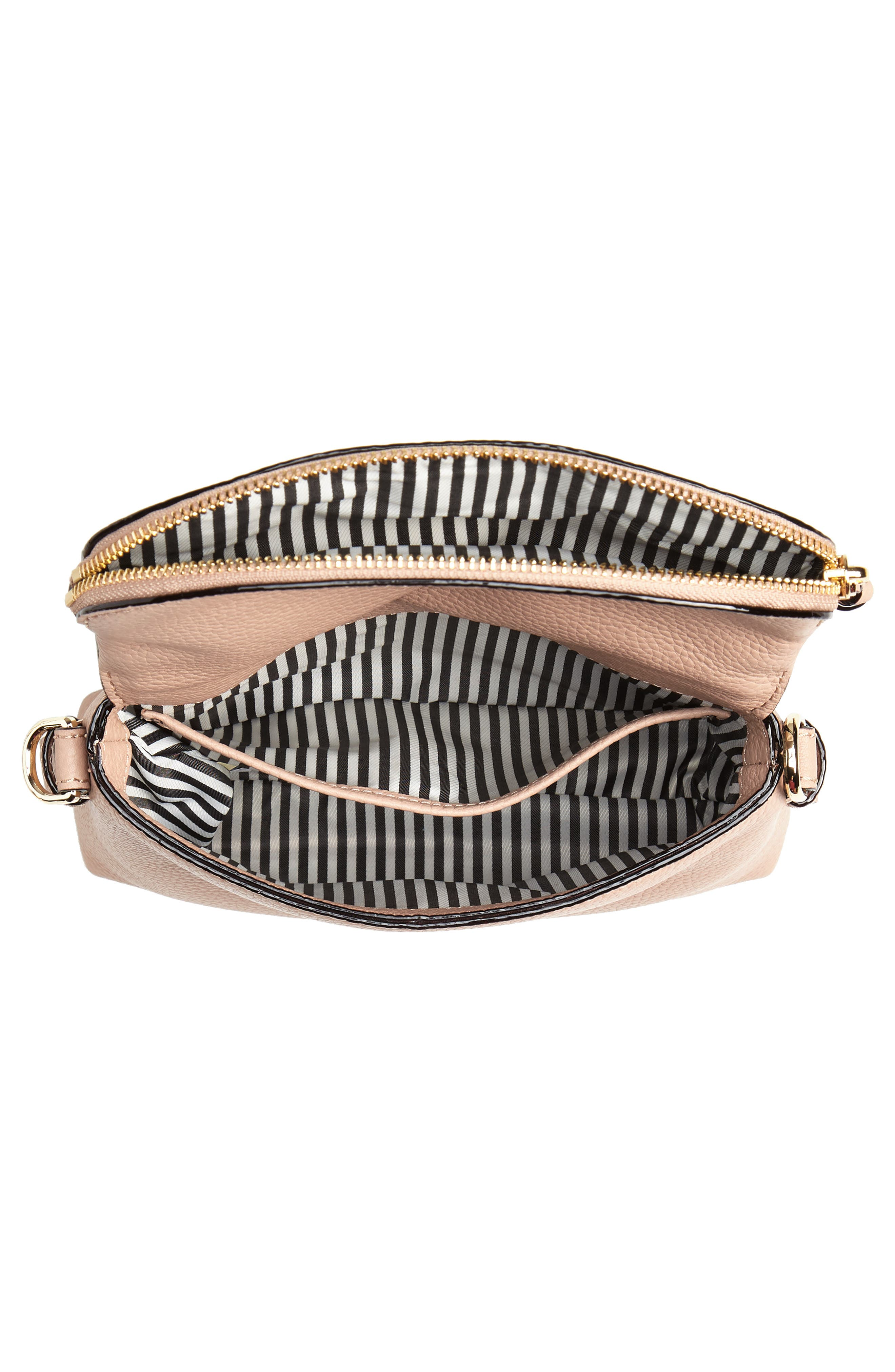 KATE SPADE NEW YORK,                             jackson street small harlyn leather crossbody bag,                             Alternate thumbnail 4, color,                             253