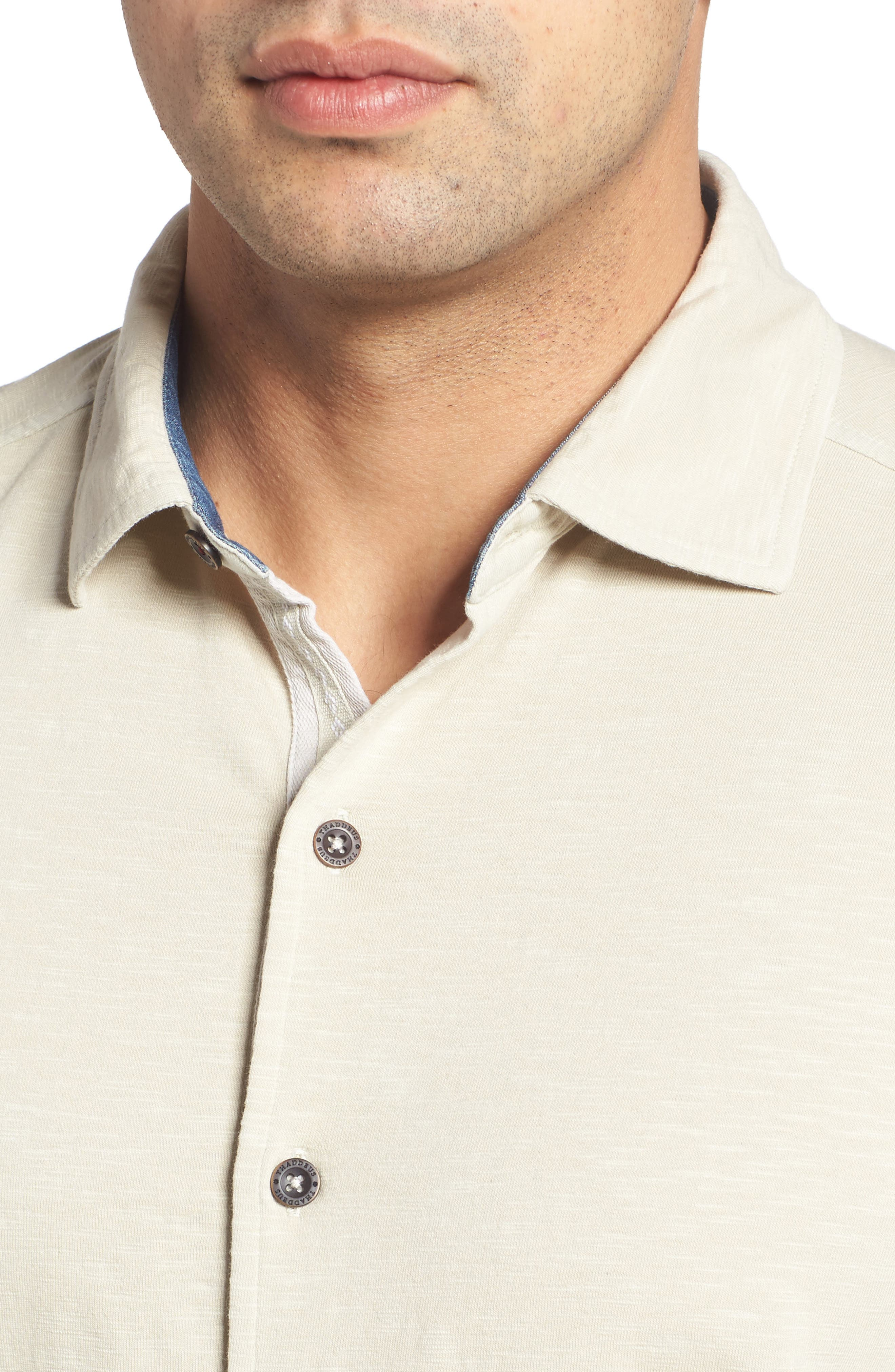 McAdams Slub Jersey Sport Shirt,                             Alternate thumbnail 11, color,