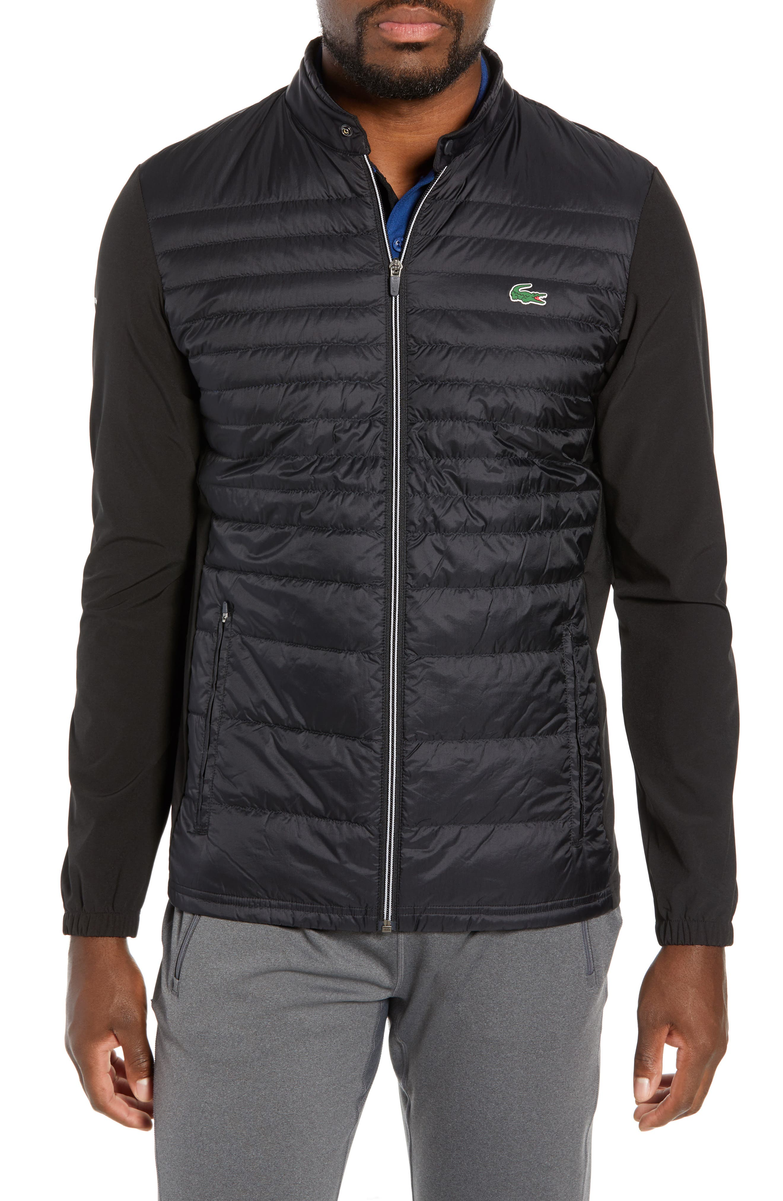 Sport Water Resistant Quilted Down Golf Jacket,                             Main thumbnail 1, color,                             010