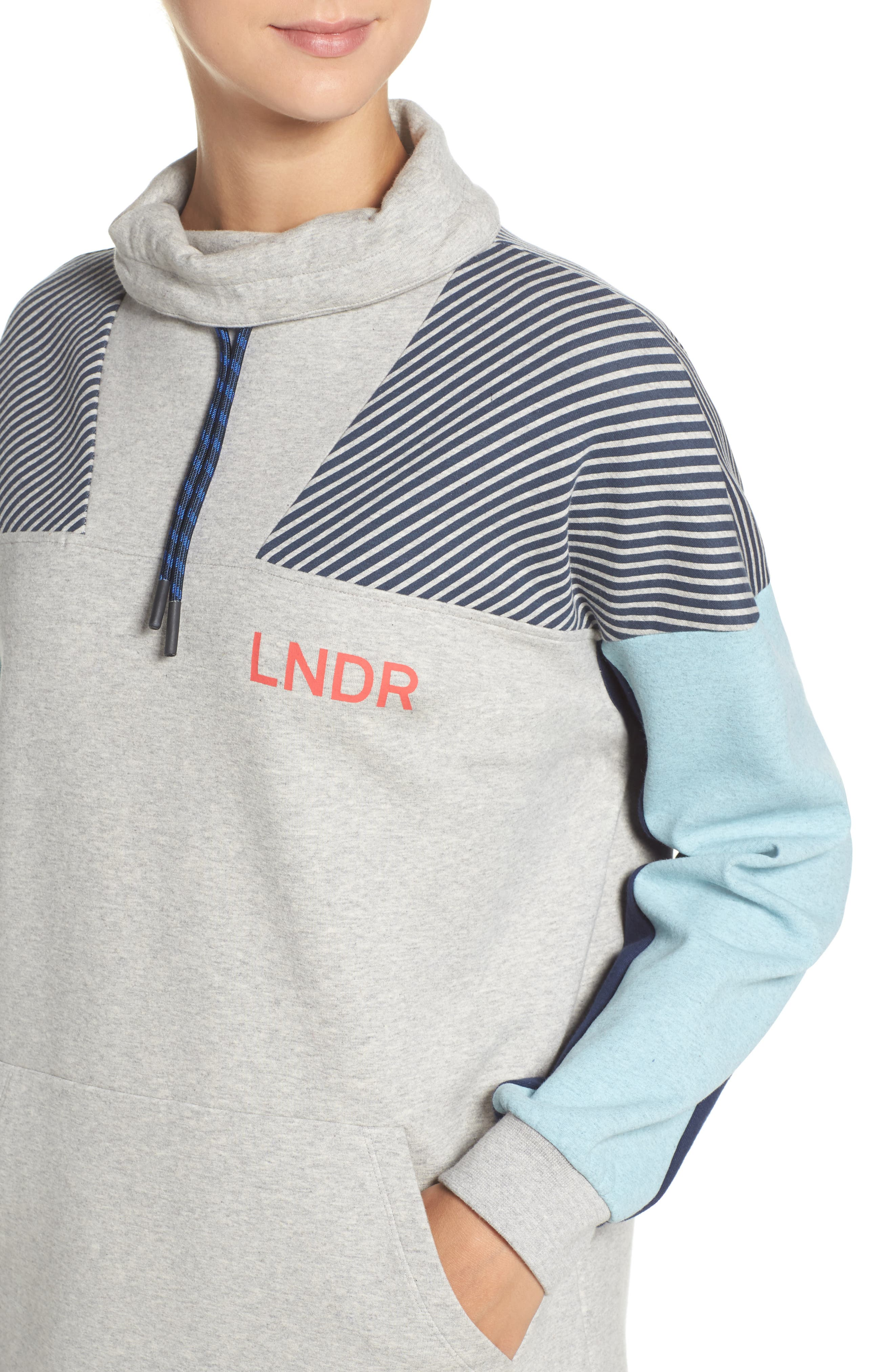 Noodie Funnel Neck Pullover,                             Alternate thumbnail 4, color,                             020