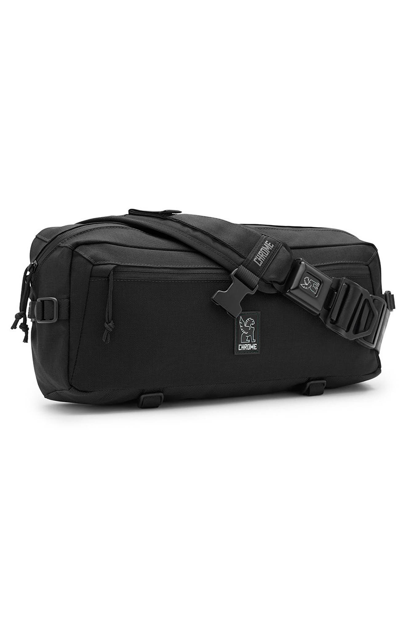 Kadet Messenger Bag,                             Alternate thumbnail 4, color,                             ALL BLACK