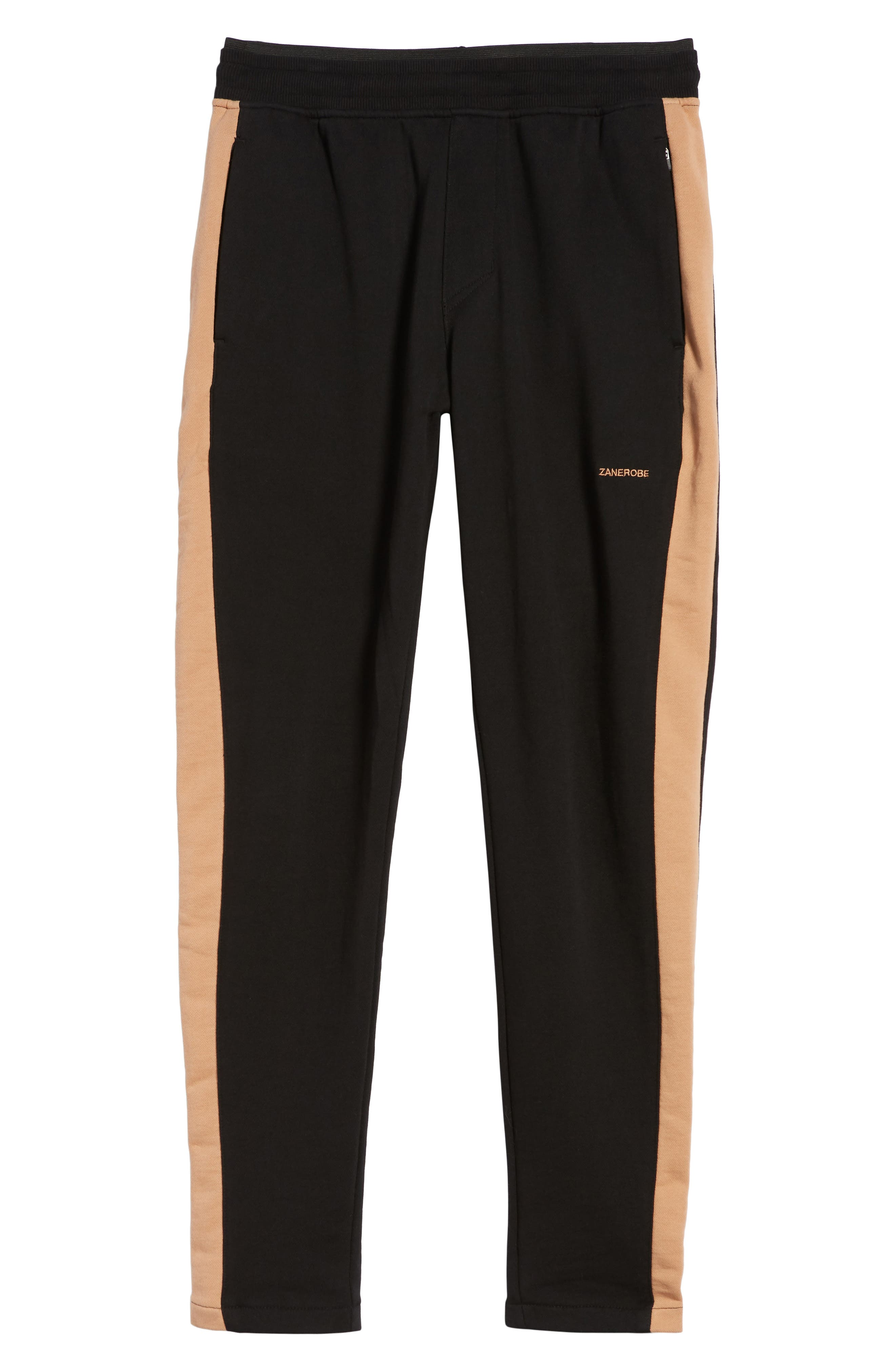 Jumpshot Slim Track Pants,                             Alternate thumbnail 6, color,                             BLACK/ BISCUIT