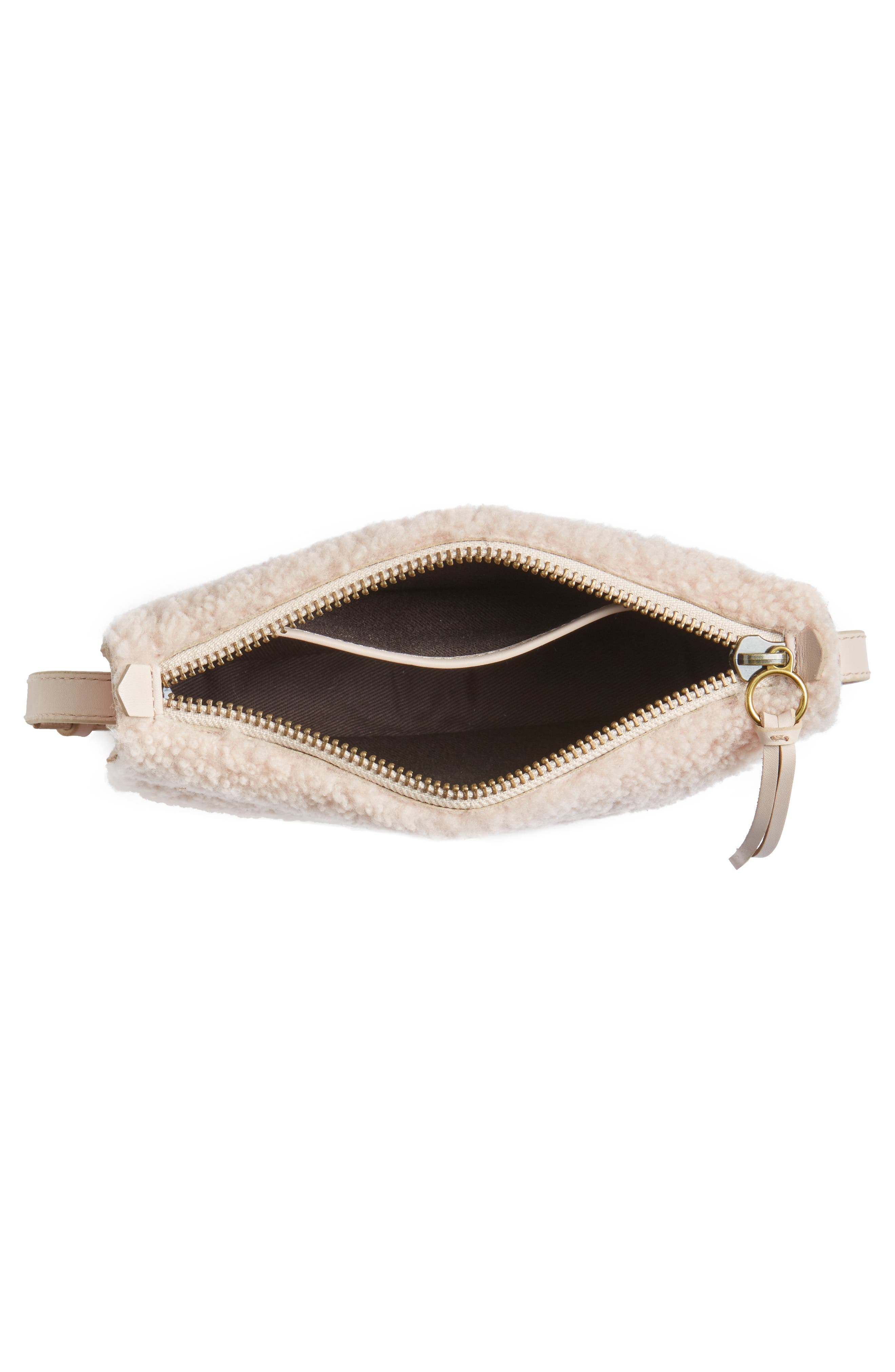 Simple Genuine Shearling Crossbody Bag,                             Alternate thumbnail 4, color,                             655