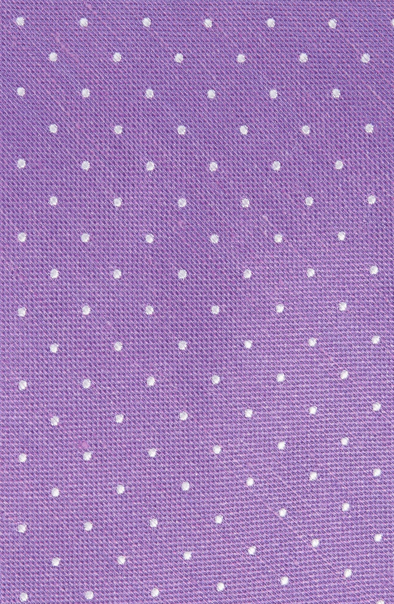 Rivington Dots Silk & Linen Tie,                             Alternate thumbnail 5, color,