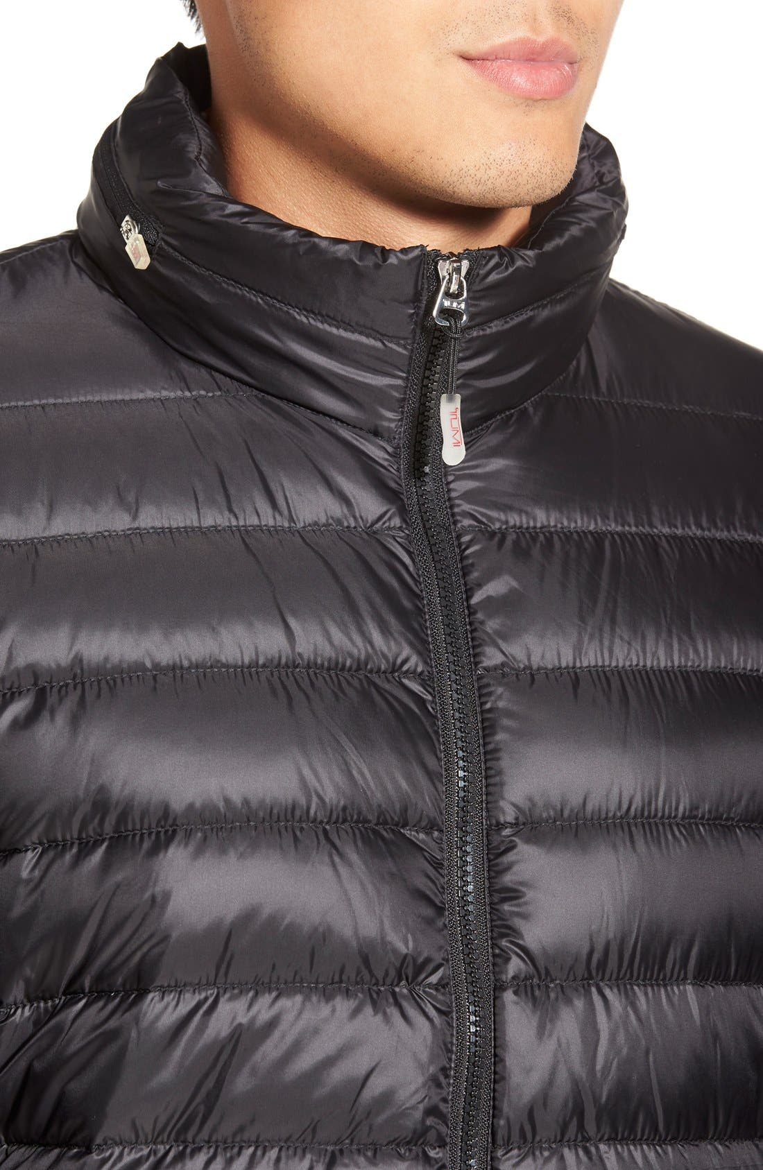 Pax Packable Quilted Jacket,                             Alternate thumbnail 5, color,                             001