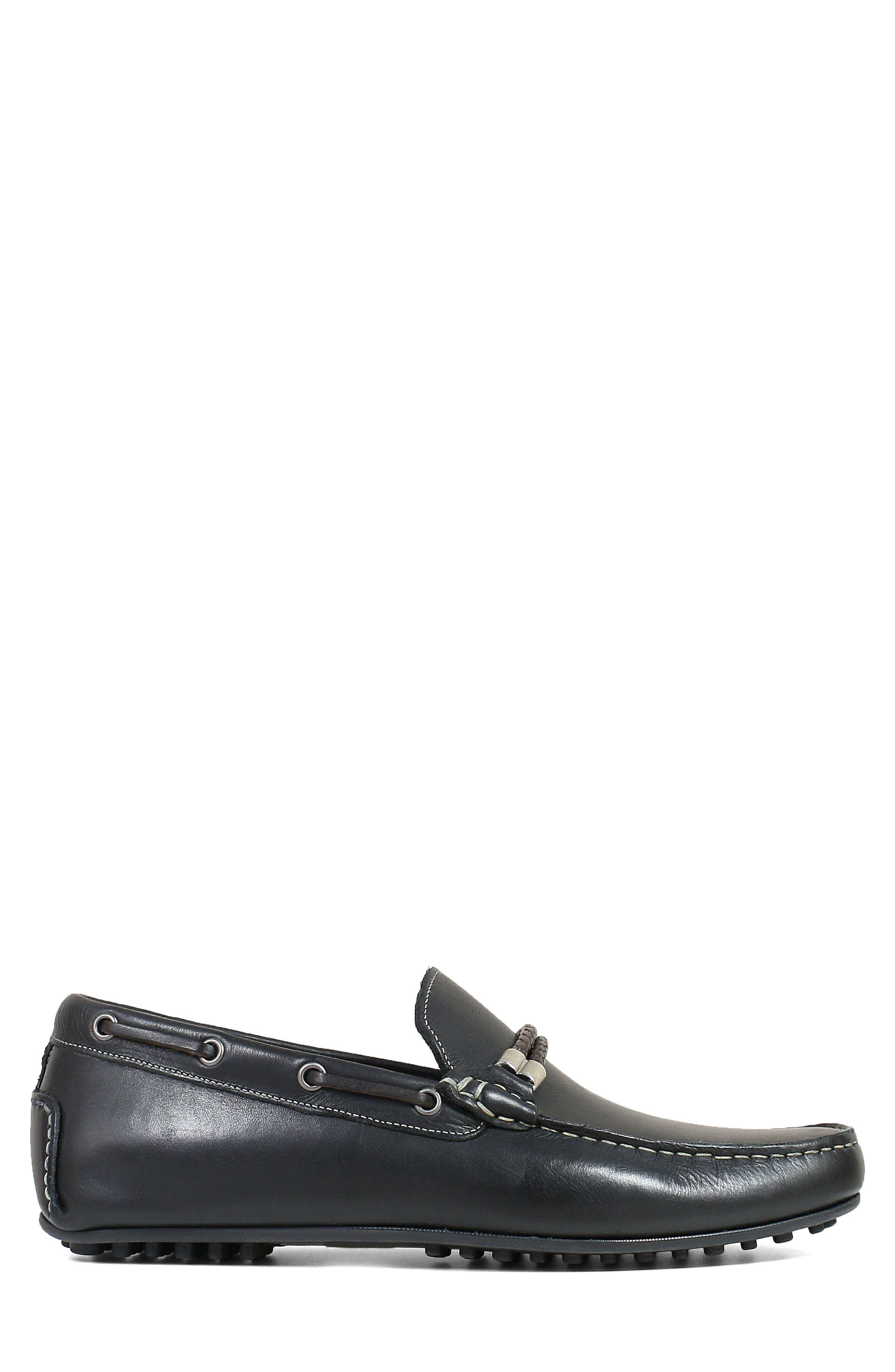 FLORSHEIM,                             Imperial Comet Driving Shoe,                             Alternate thumbnail 3, color,                             BLACK LEATHER