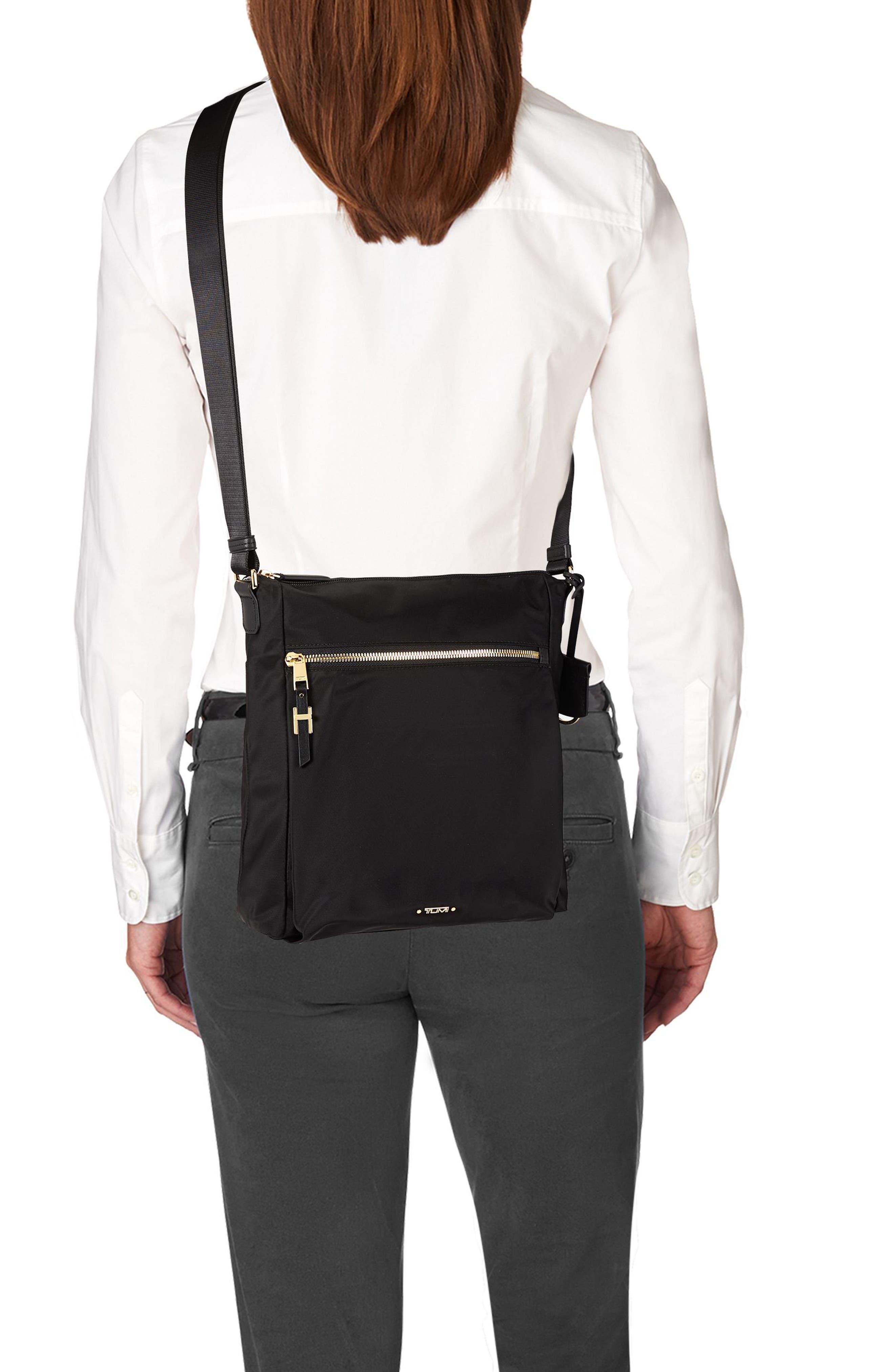 Voyageur - Canton Nylon Crossbody Bag,                             Alternate thumbnail 2, color,                             BLACK