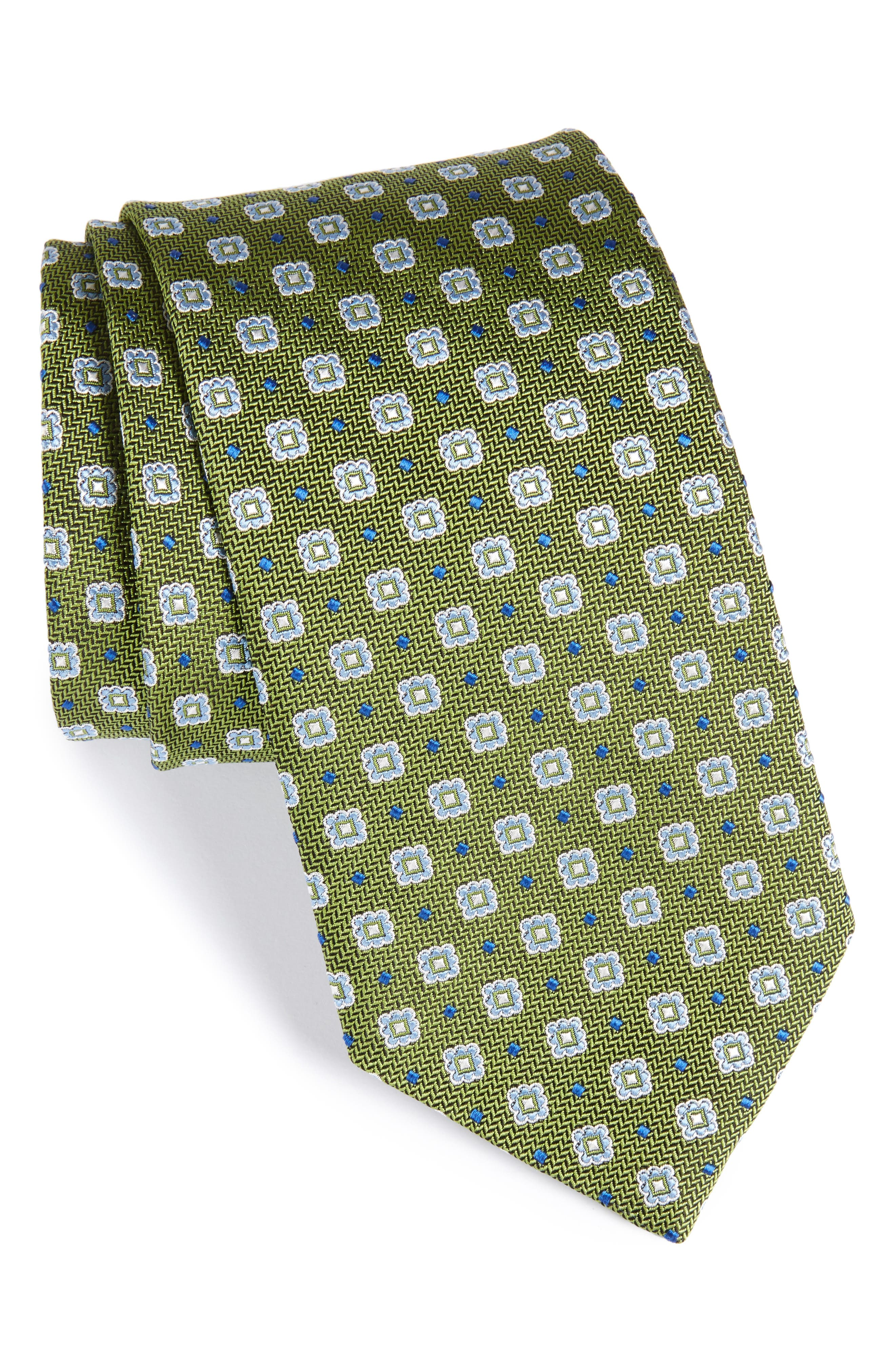 Neat Silk Tie,                             Main thumbnail 1, color,                             314