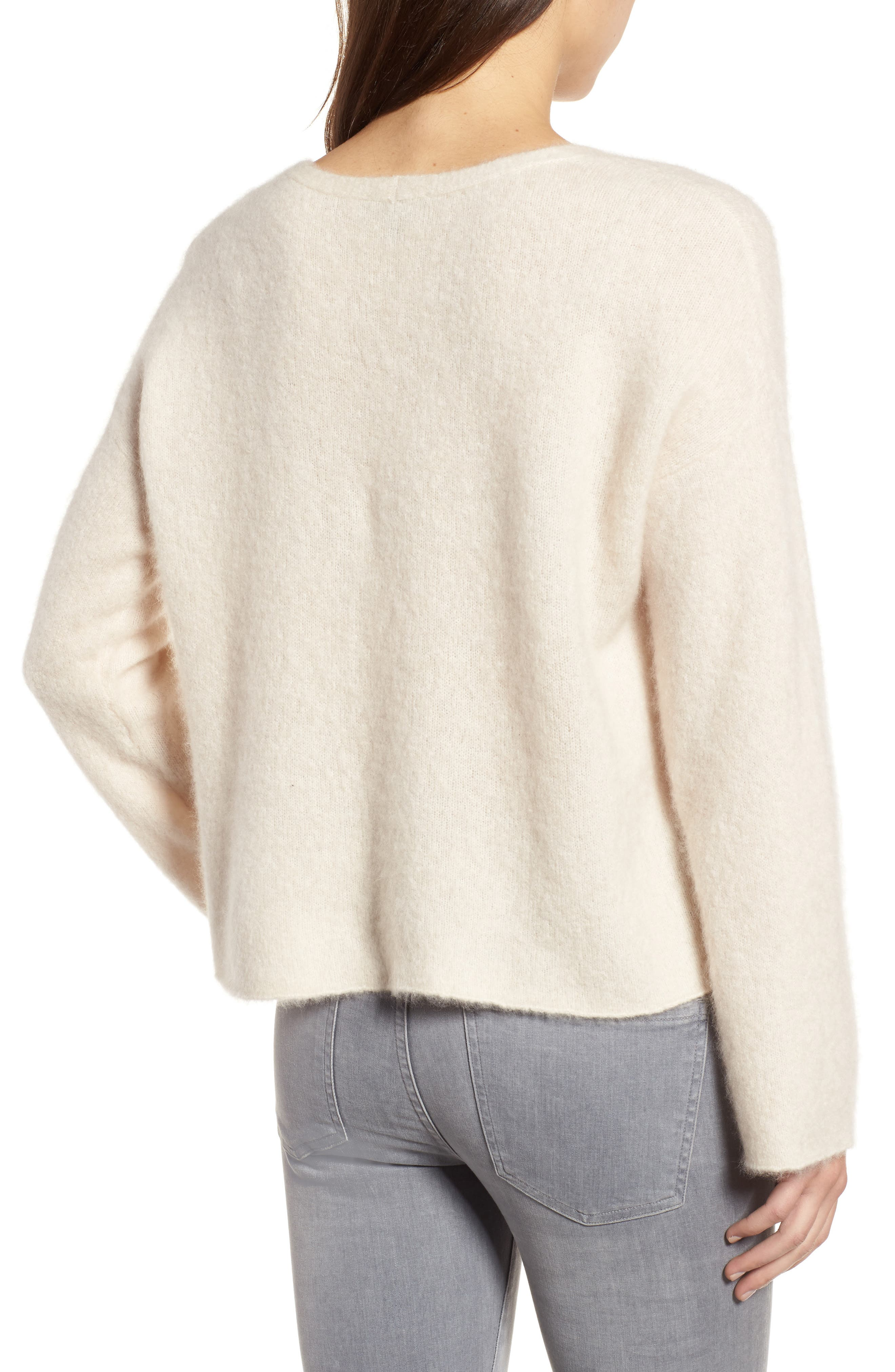 Boxy Cashmere Blend Sweater,                             Alternate thumbnail 2, color,                             103