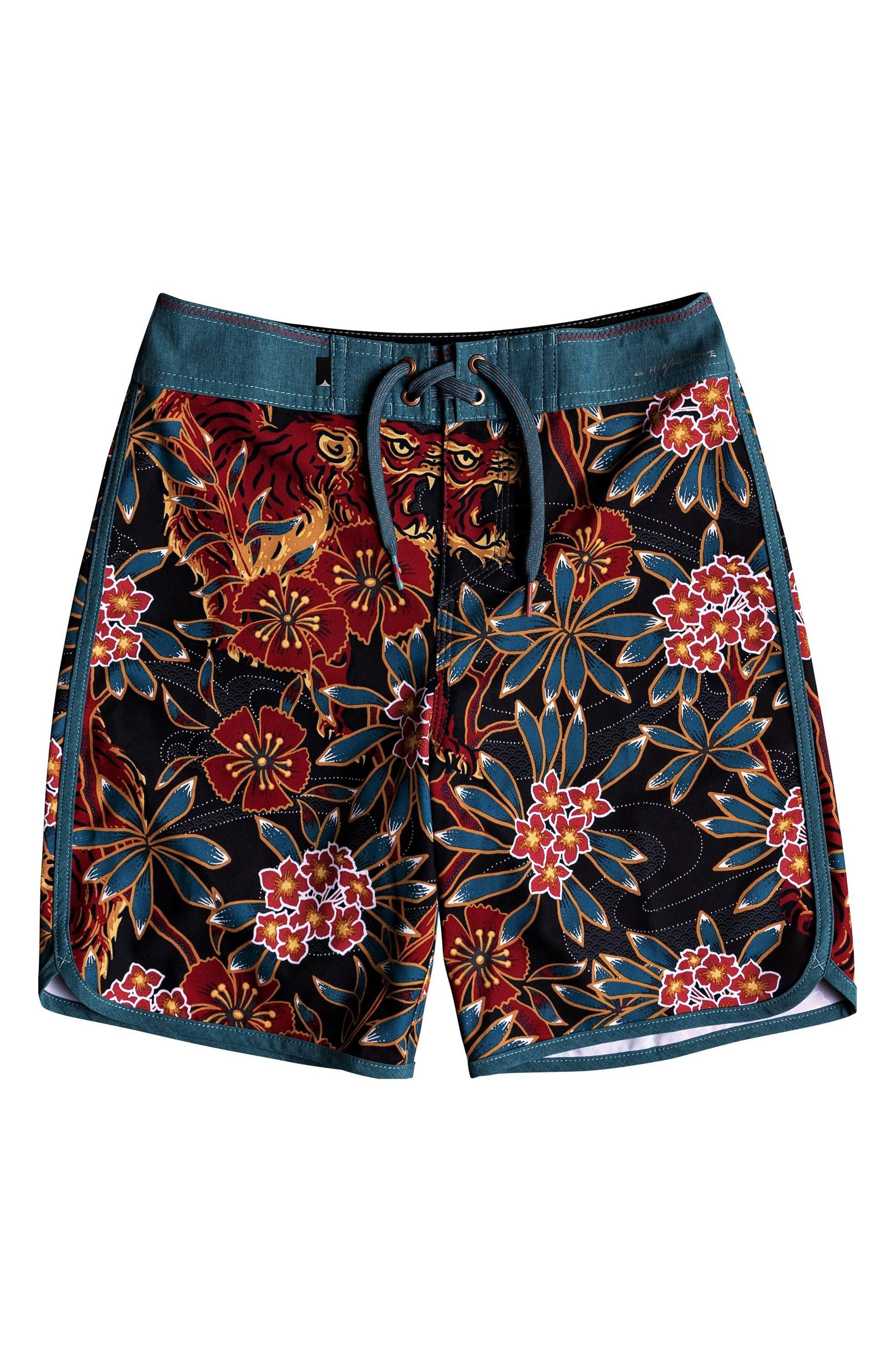 Highline Silent Fury Board Shorts,                         Main,                         color, TAPESTRY