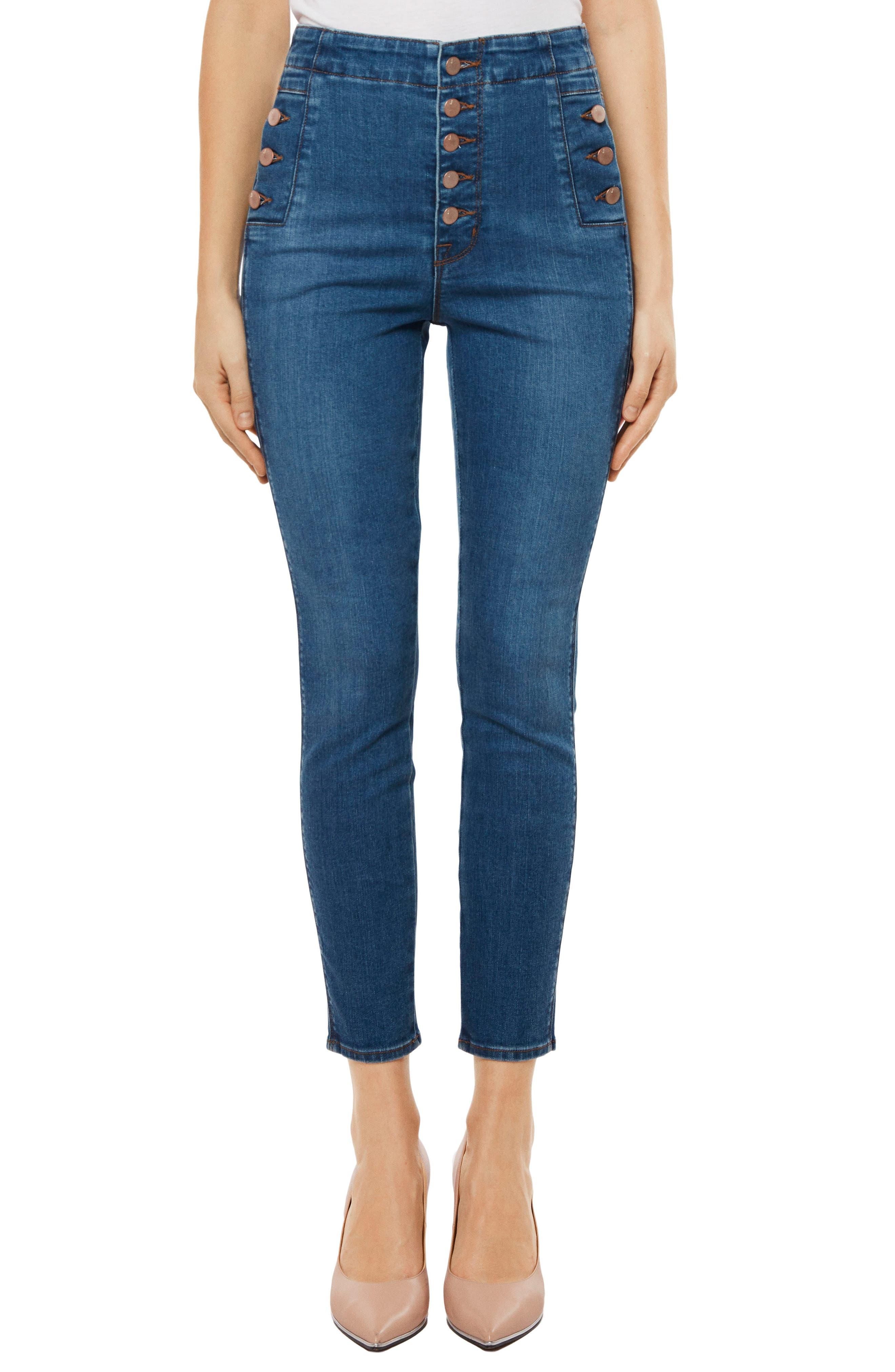 Natasha Sky High High Waist Crop Skinny Jeans,                             Main thumbnail 1, color,                             LOVESICK