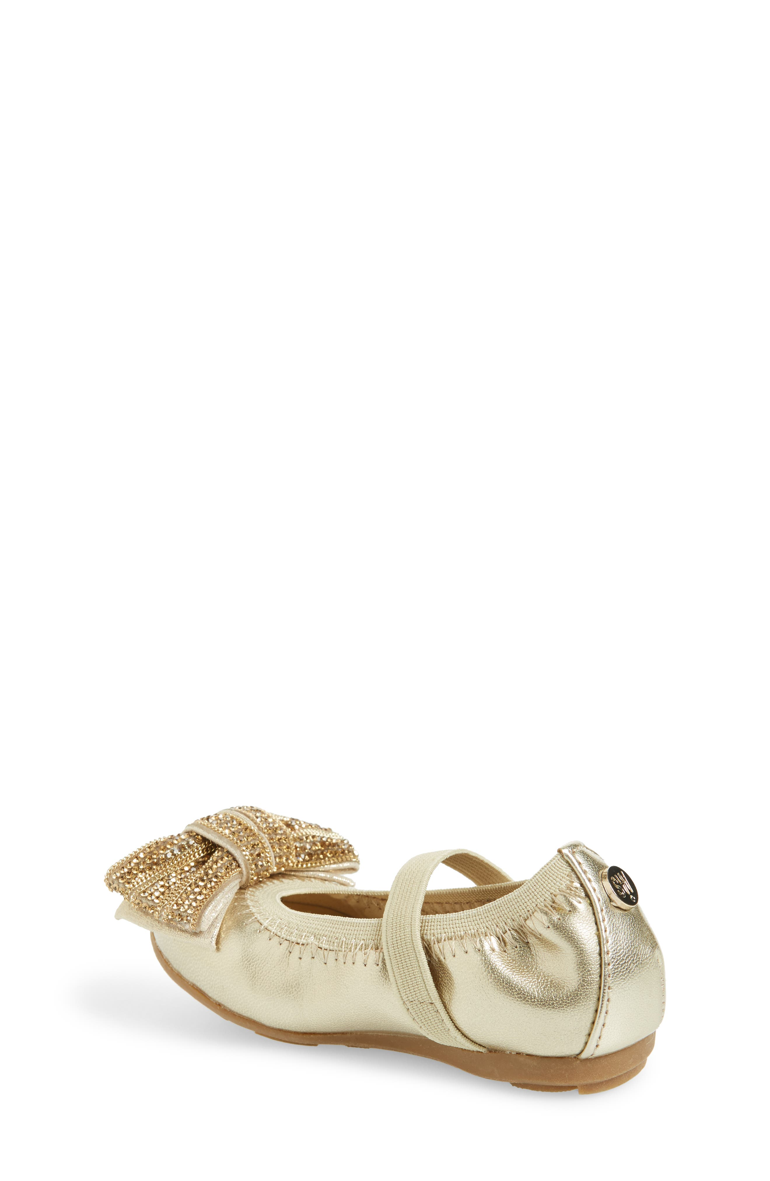 Fannie Embellished Bow Mary Jane Flat,                             Alternate thumbnail 6, color,