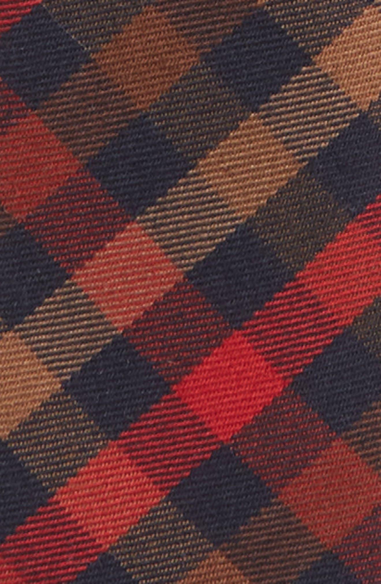 Plaid Zip Tie,                             Alternate thumbnail 2, color,                             ORANGE