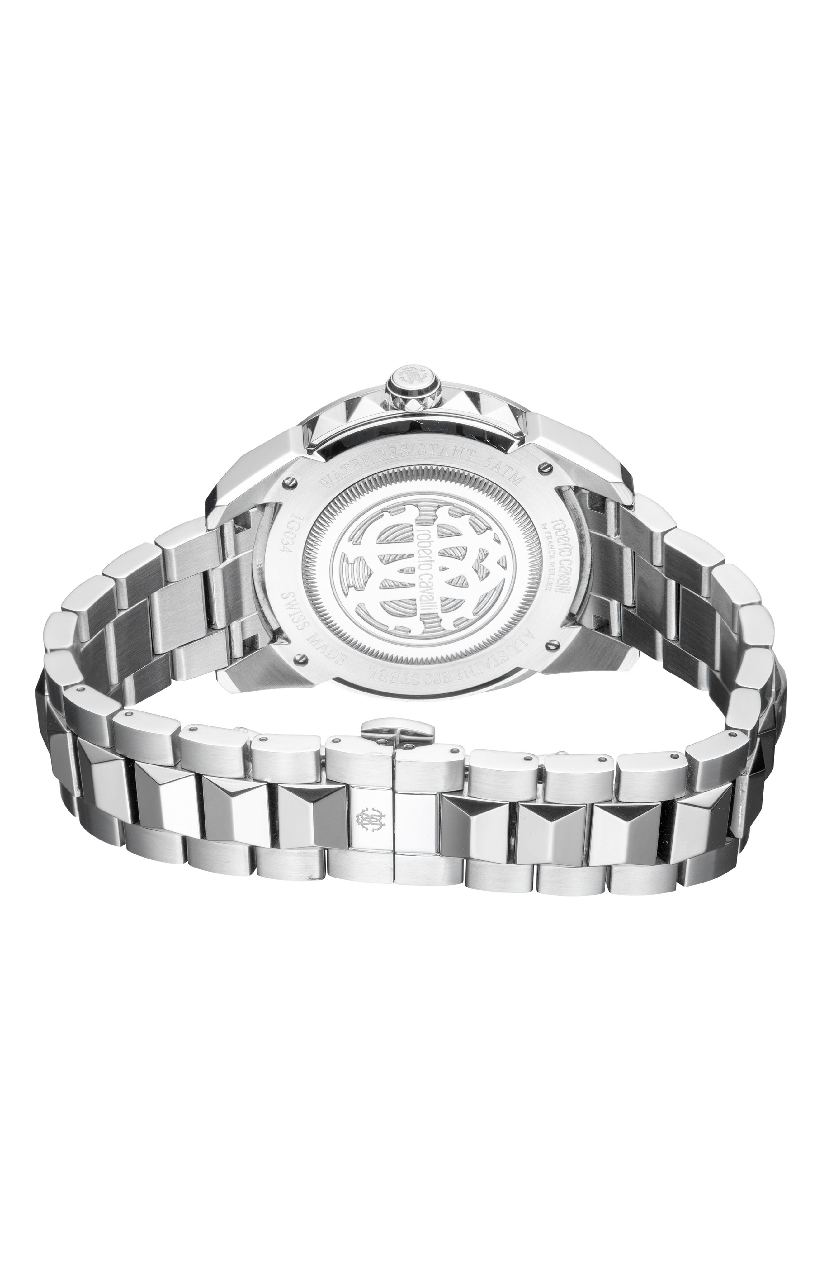 Costellato Bracelet Watch,                             Alternate thumbnail 2, color,                             SILVER/ BLUE