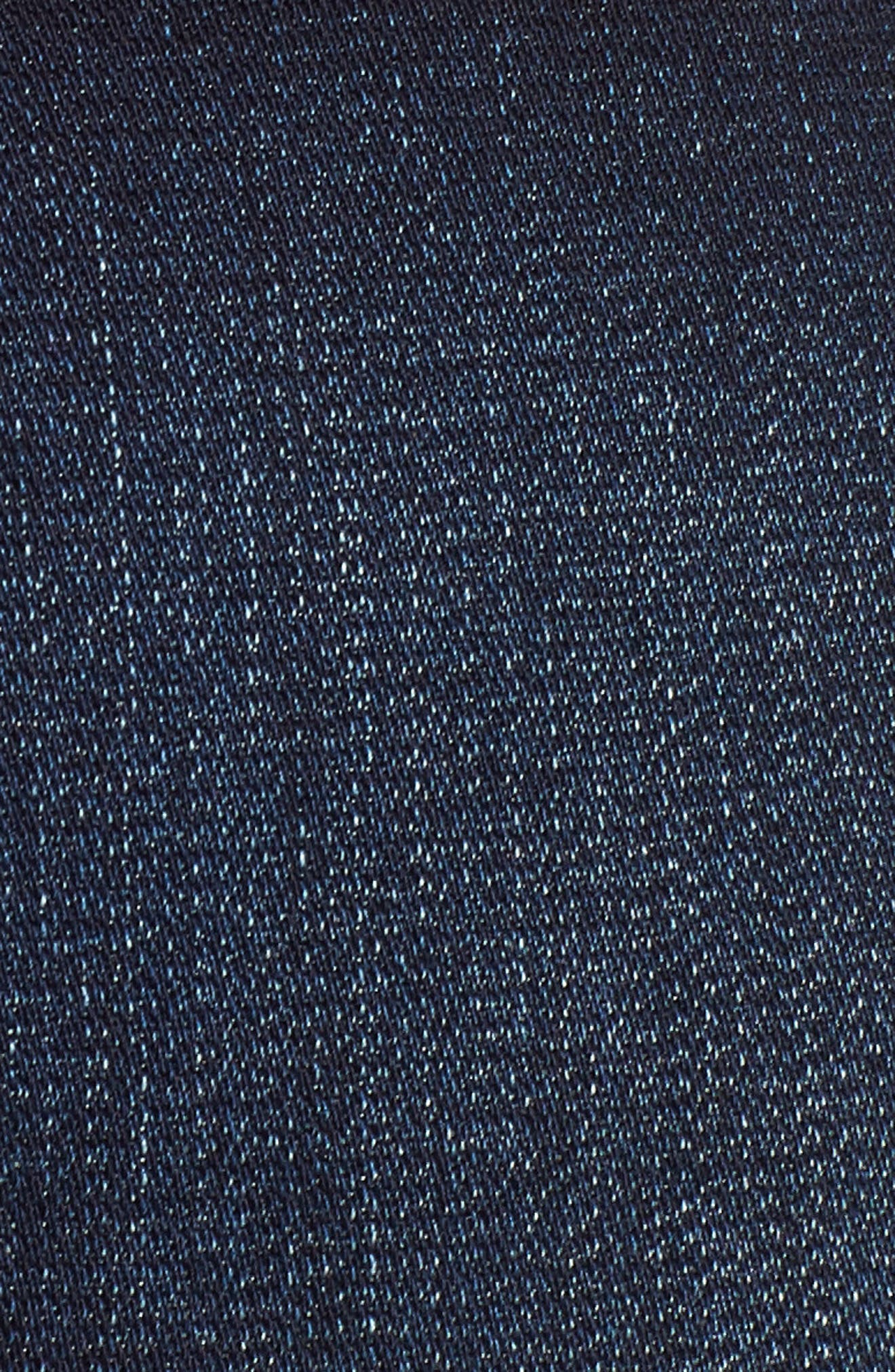 Cuffed Denim Shorts,                             Alternate thumbnail 6, color,                             404